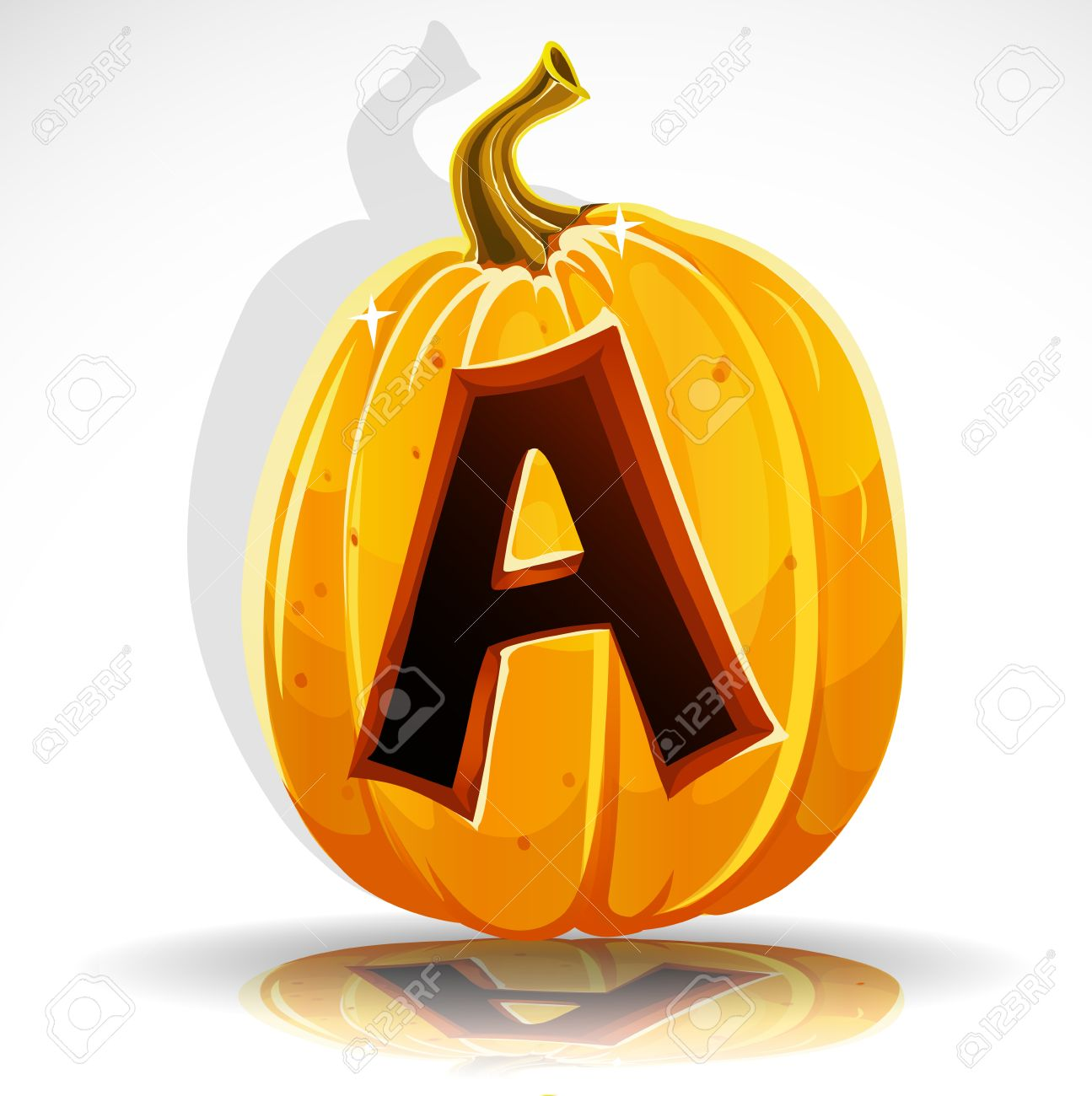 happy halloween font cut out pumpkin letter a royalty free cliparts