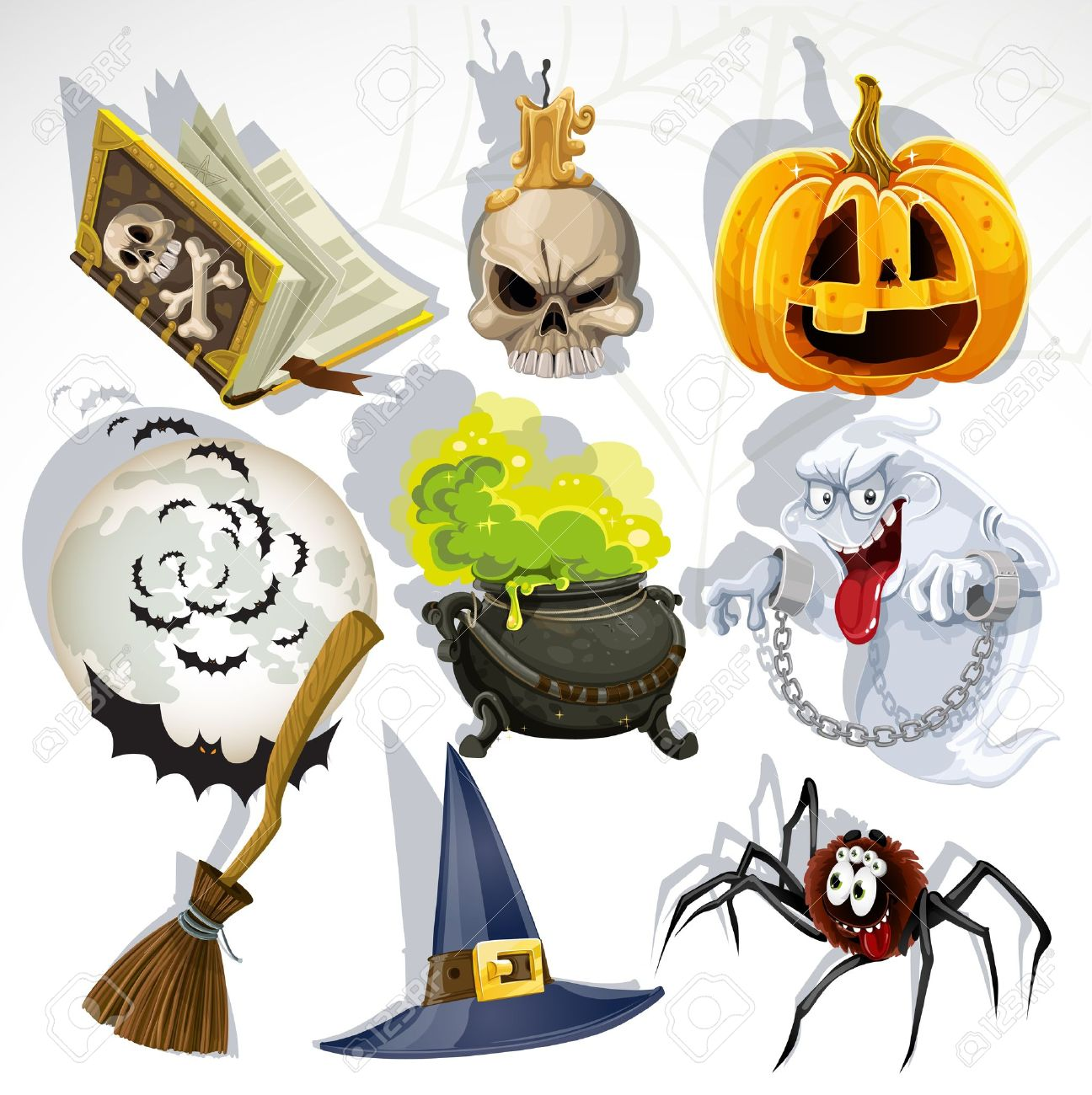 Collection of halloween related objects and creatures Stock Vector - 15512480