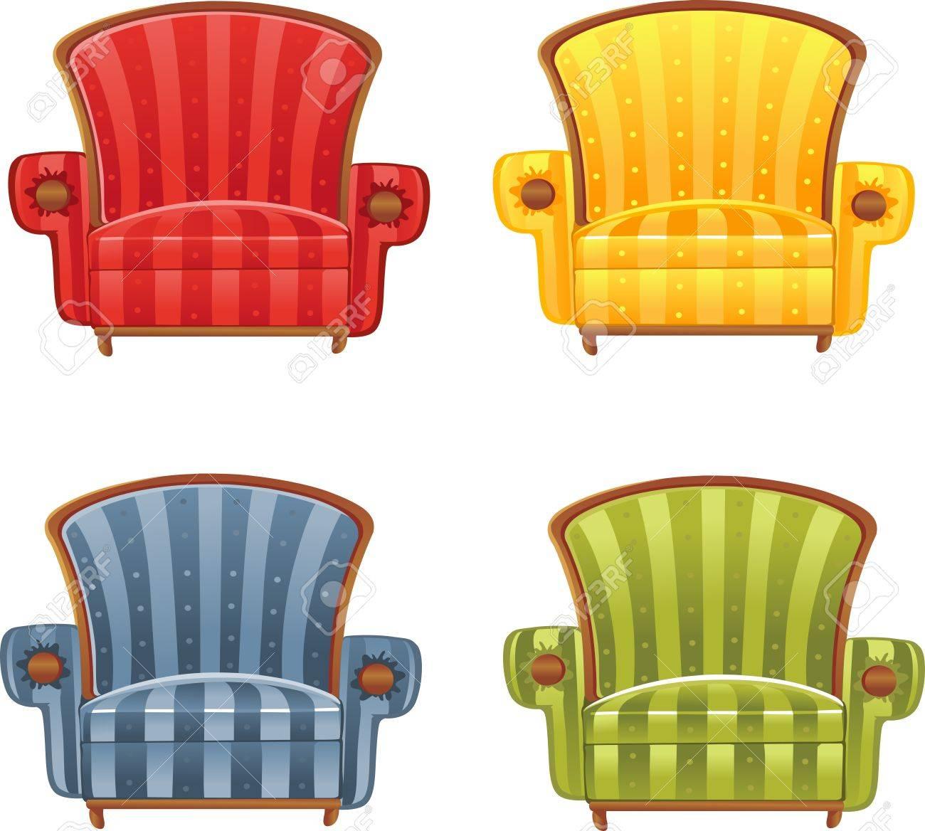Ordinaire Color Bright Armchair Stock Vector   15532646