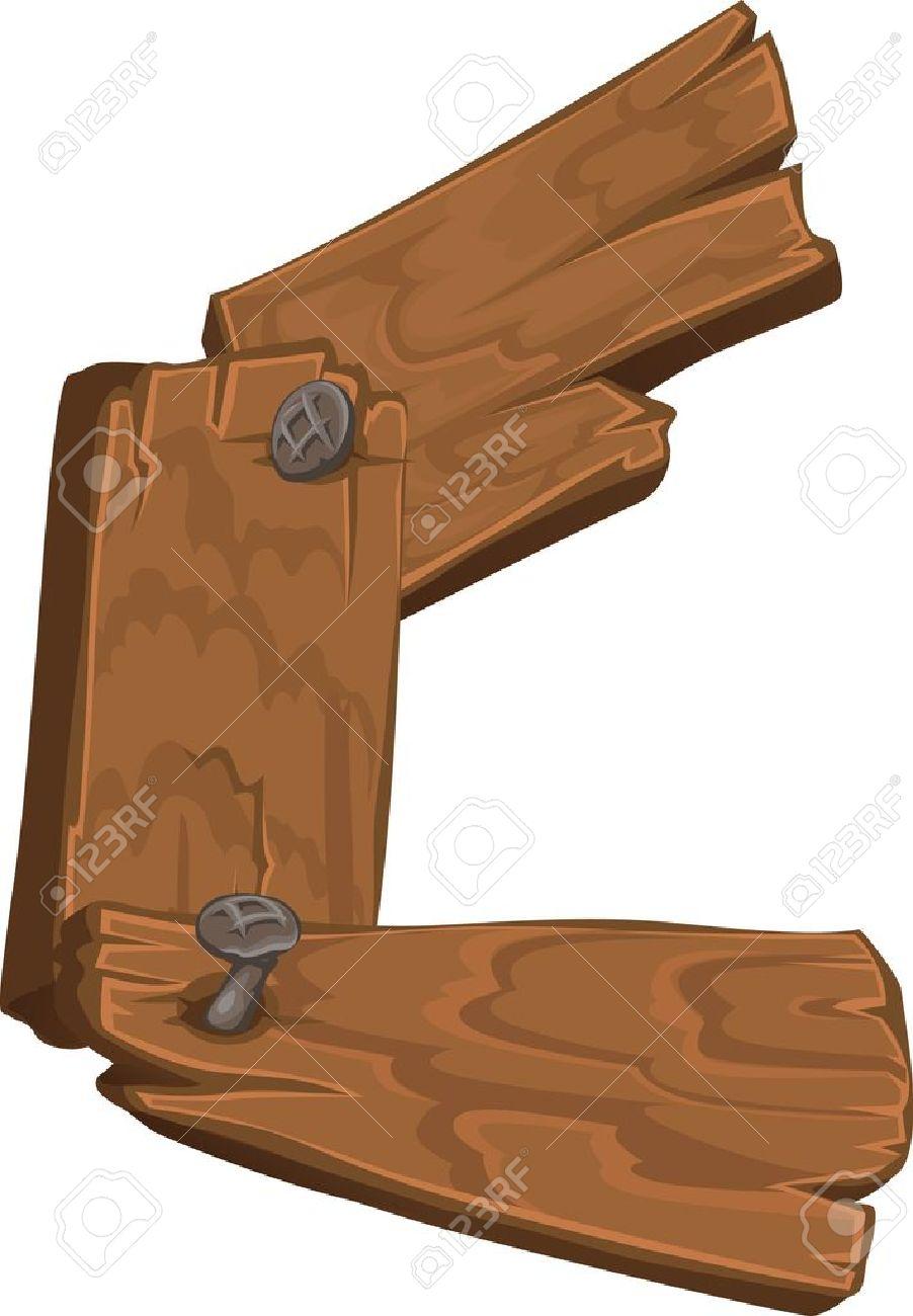 wooden alphabet letter c stock vector 15660765