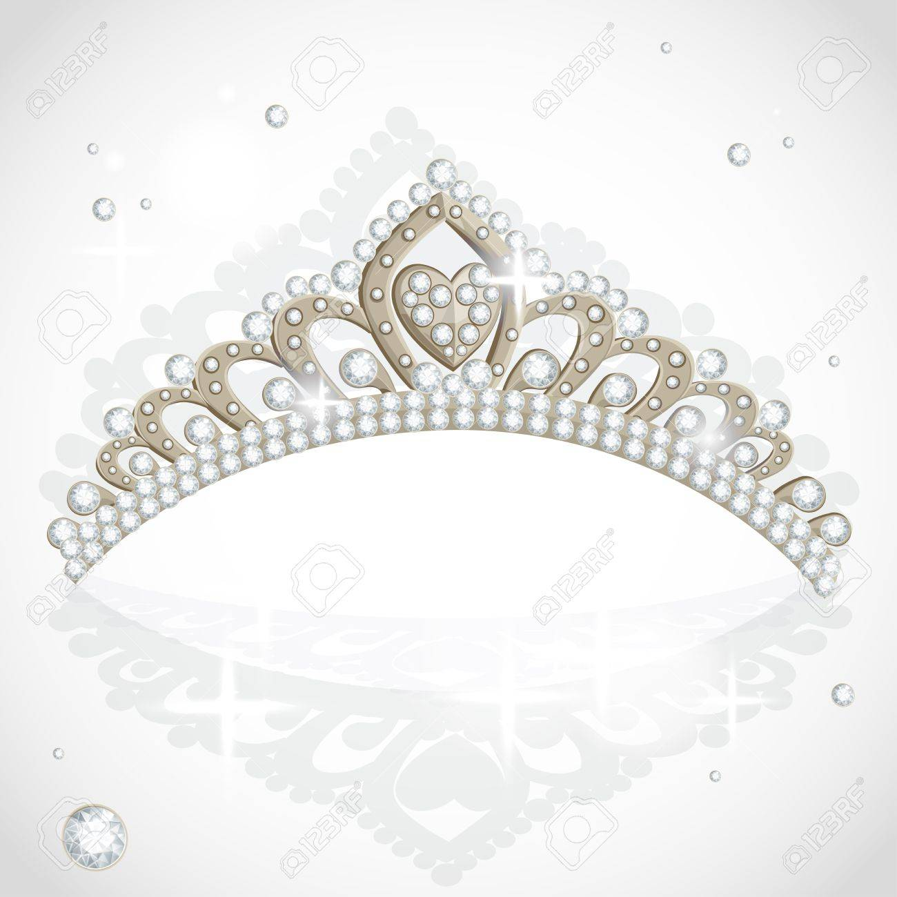 Shining tiara with diamonds Stock Vector - 15662739