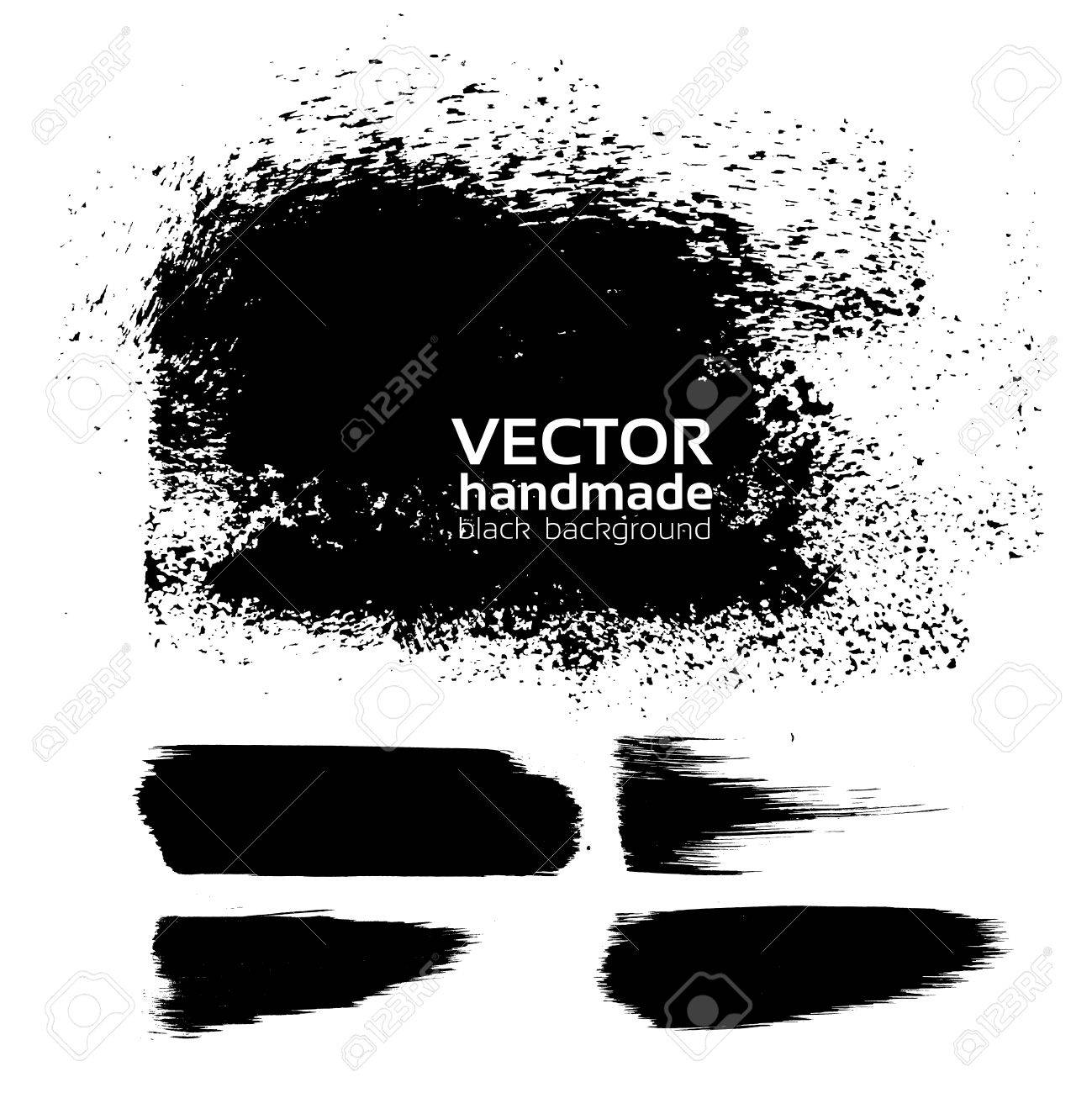 Handmade texture background from brush strokes Stock Vector - 16683398