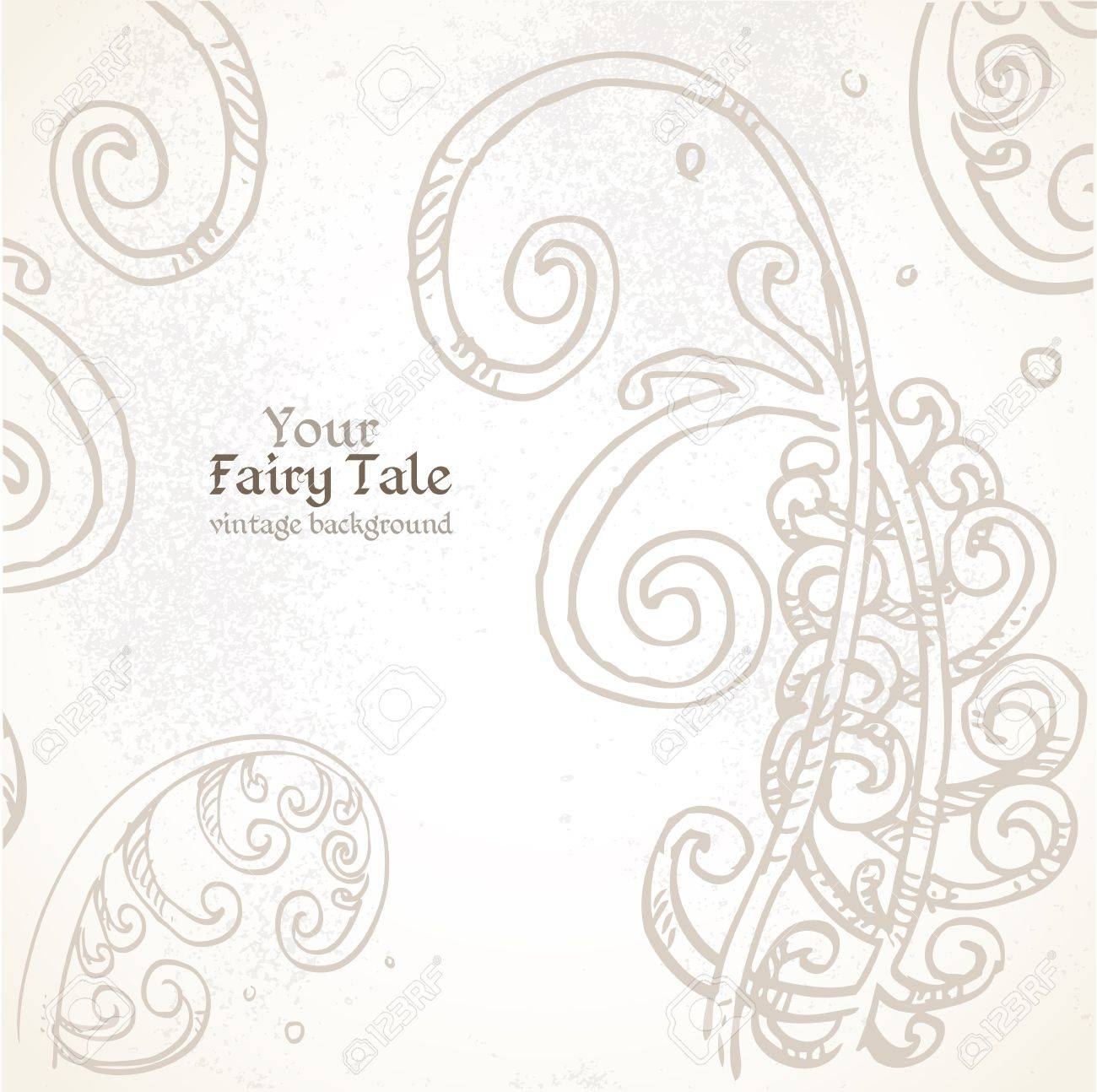 Your Fairy tale vintage background Stock Vector - 17241551