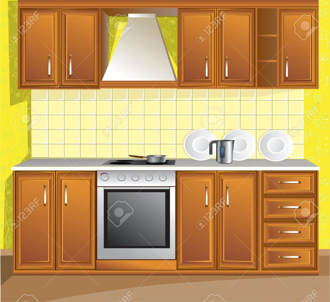 22,896 clean kitchen stock vector illustration and royalty free