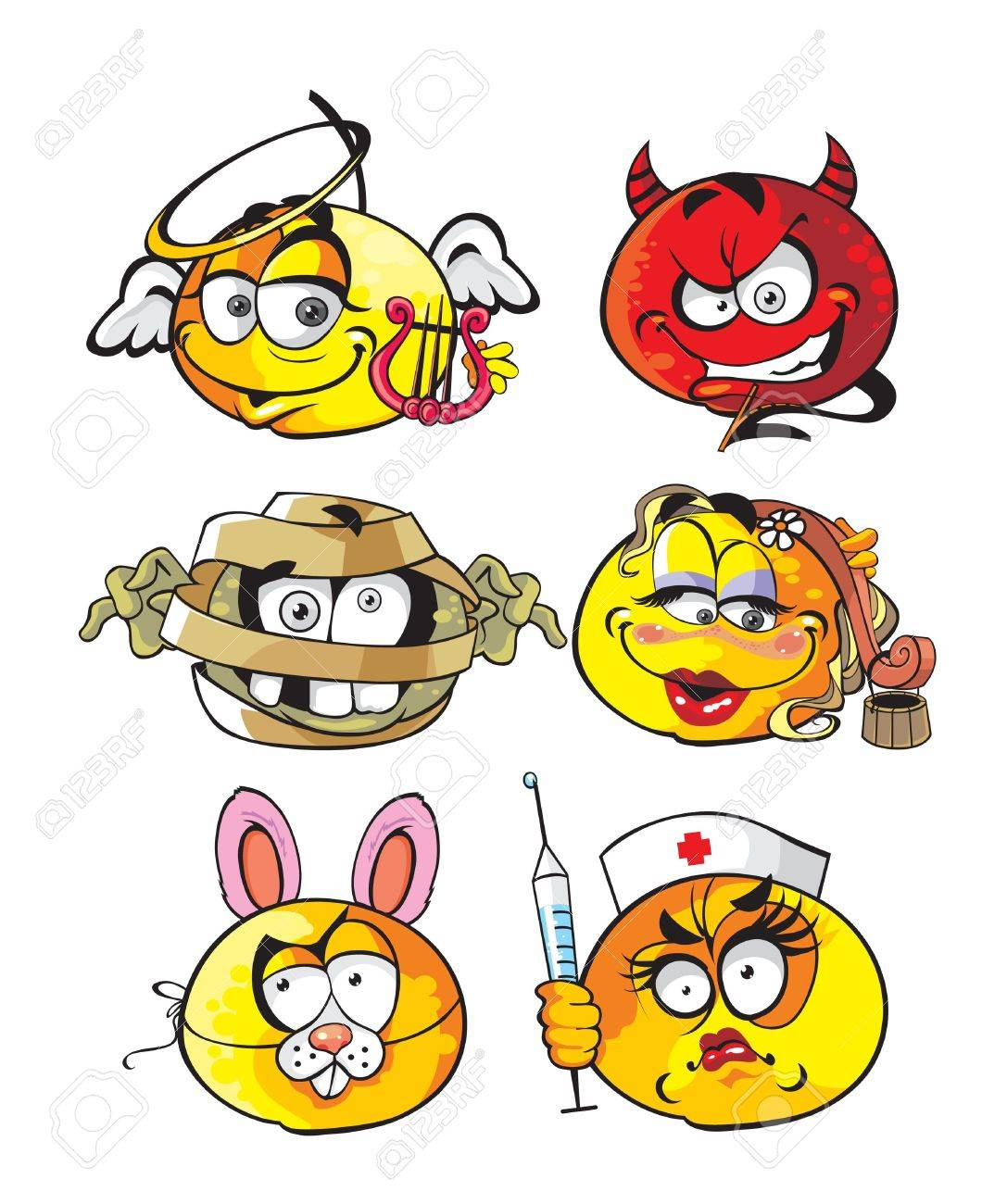 carnival smiles Stock Vector - 17316967