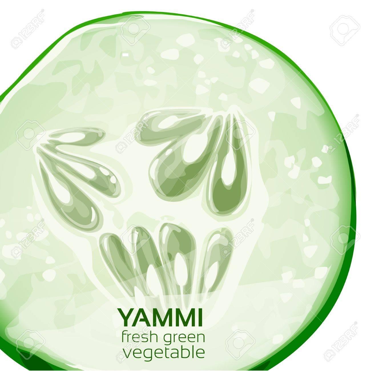 Yammi fresh green vegetable poster Stock Vector - 18011076