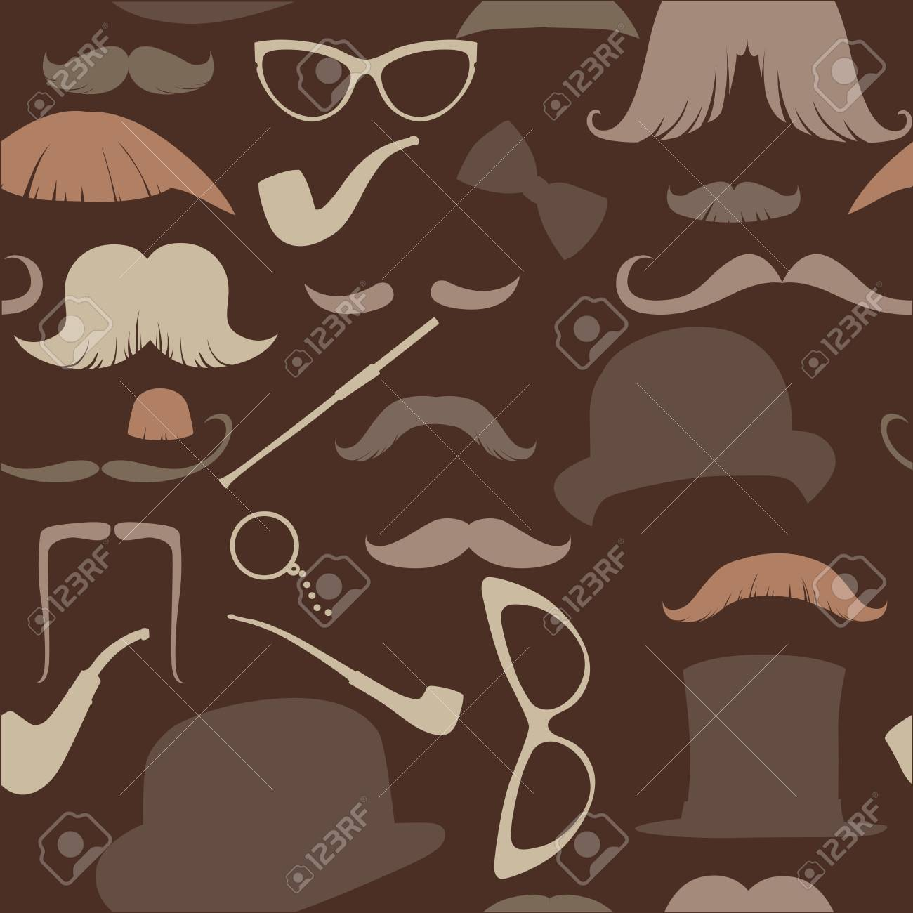 Art Deco seamless pattern in retro style, illustration warm brown range Stock Vector - 18708636