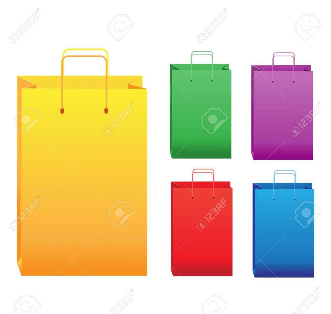 Color shopping bags Stock Vector - 23150909