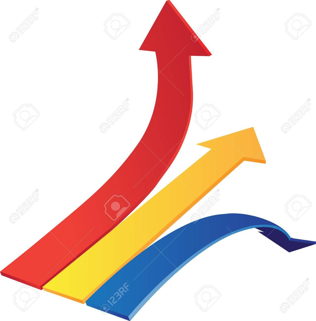 Dynamyk arrows up, down, line Stock Vector - 23151093