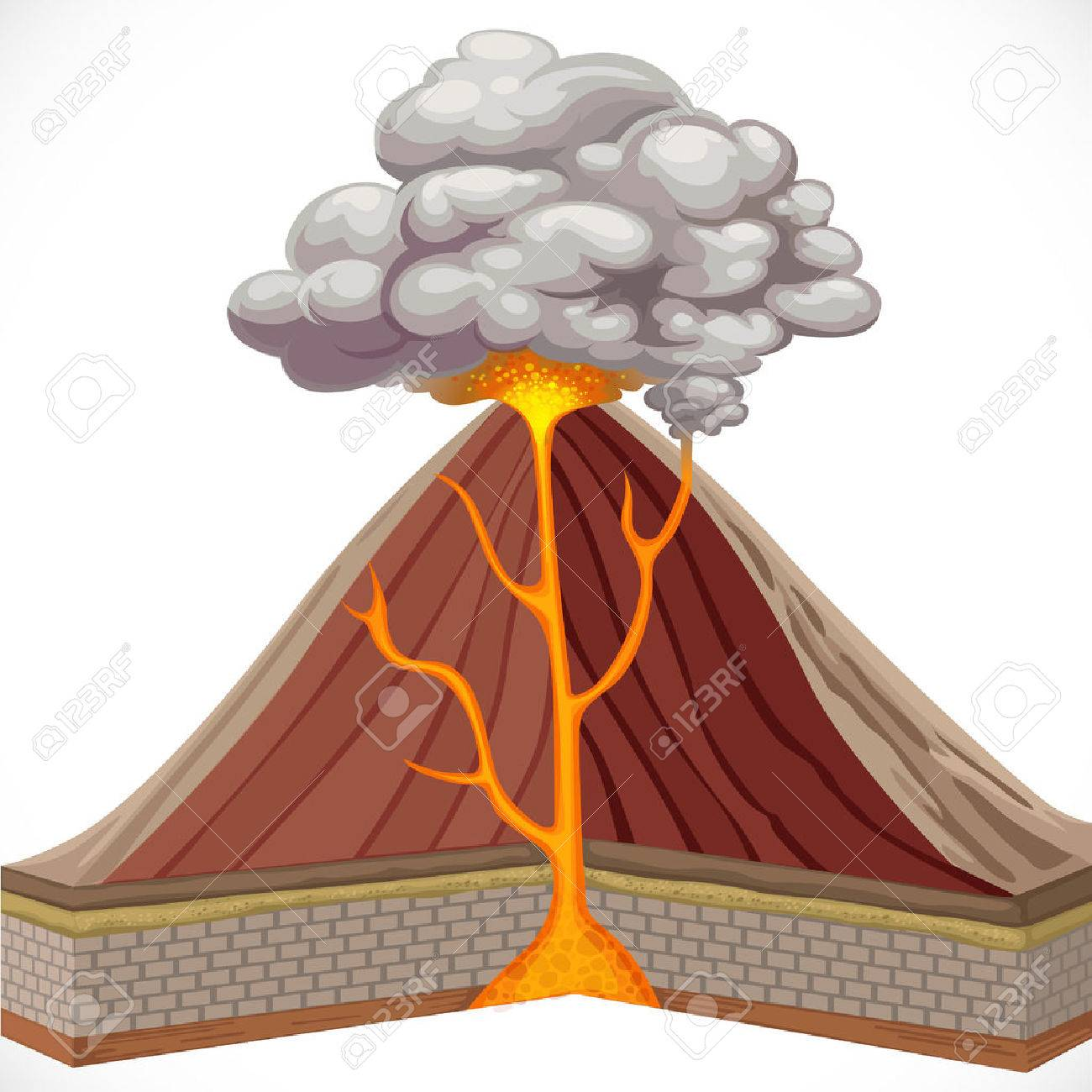 Diagram of volcano isolated on white background royalty free diagram of volcano isolated on white background stock vector 31070827 ccuart Gallery