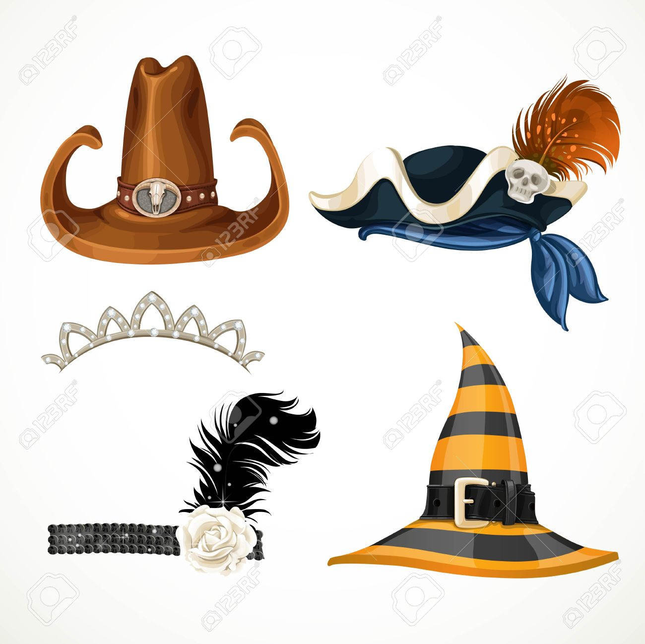 6e07d9aac13 Set Of Hats For The Carnival Costumes - Retro