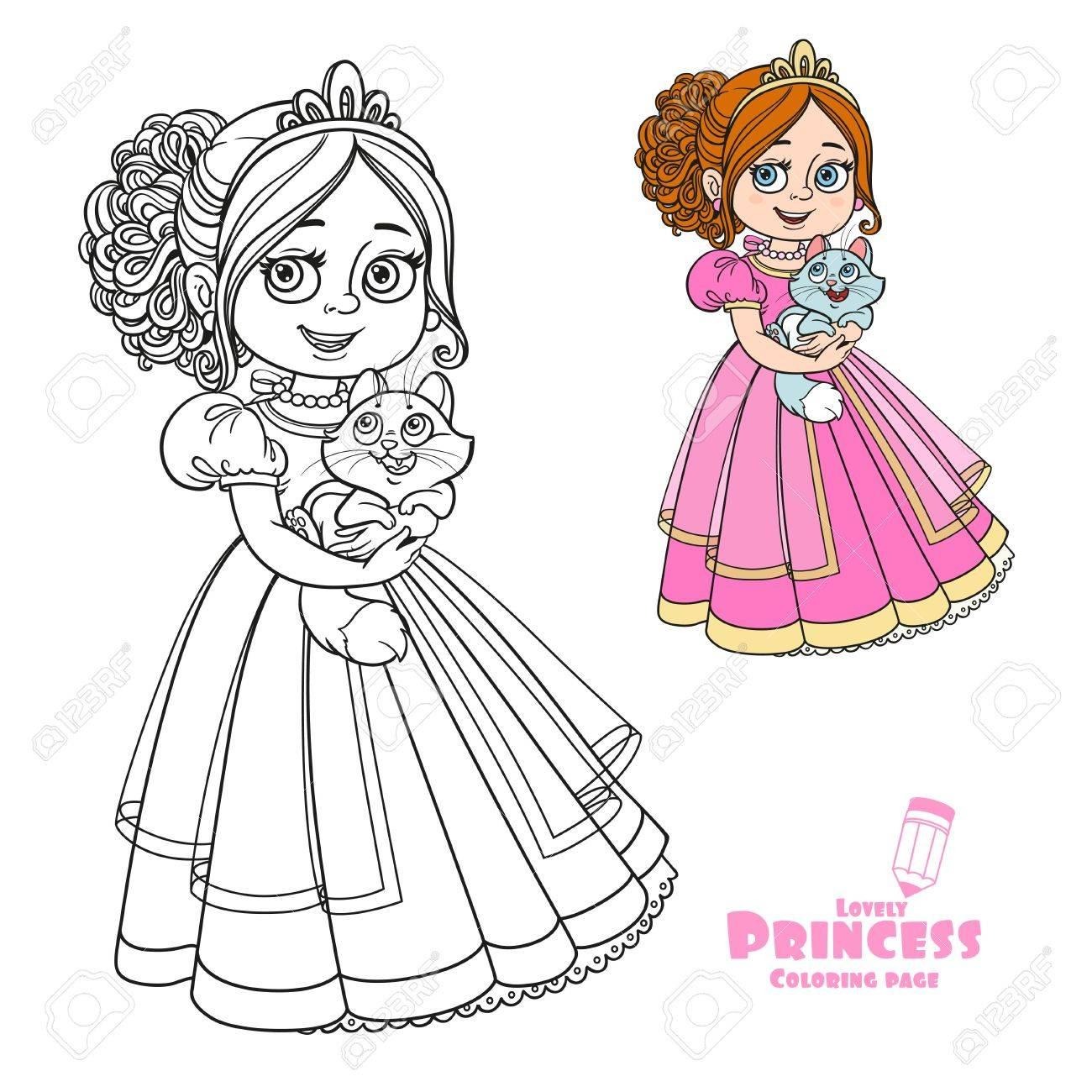 Hermosa Celebración De La Princesa Gatito En El Color De Las Manos Y ...