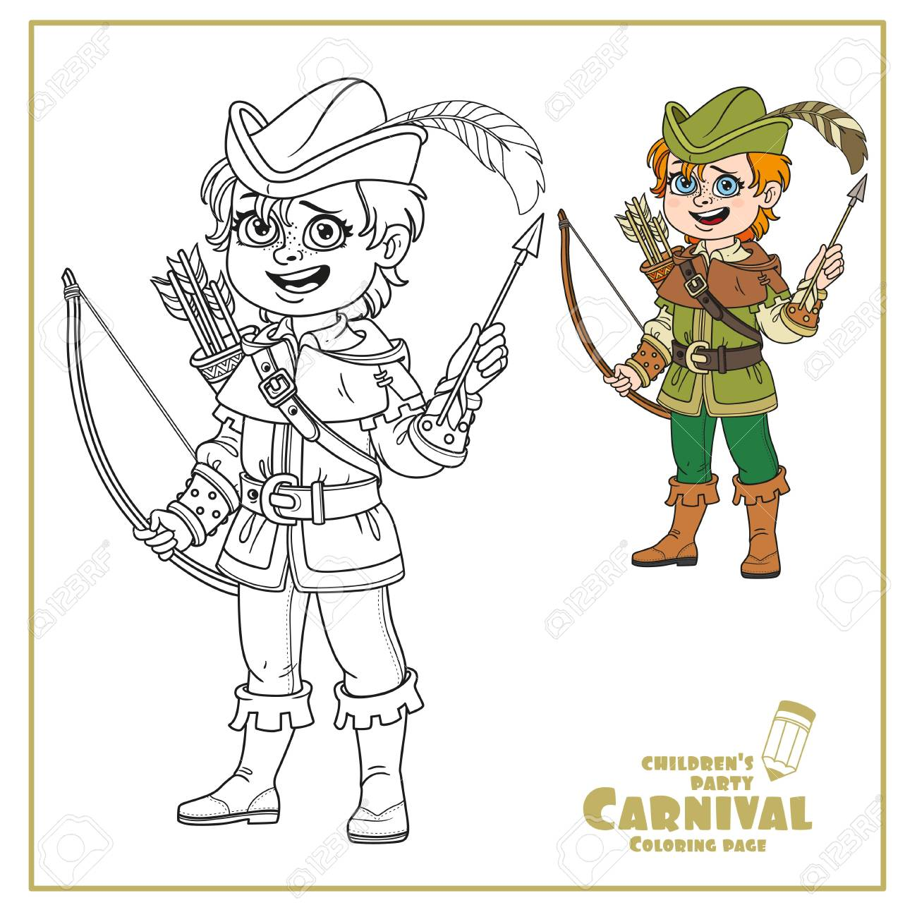 Disney's Robin Hood Coloring Pages | Disneyclips.com | 1300x1300