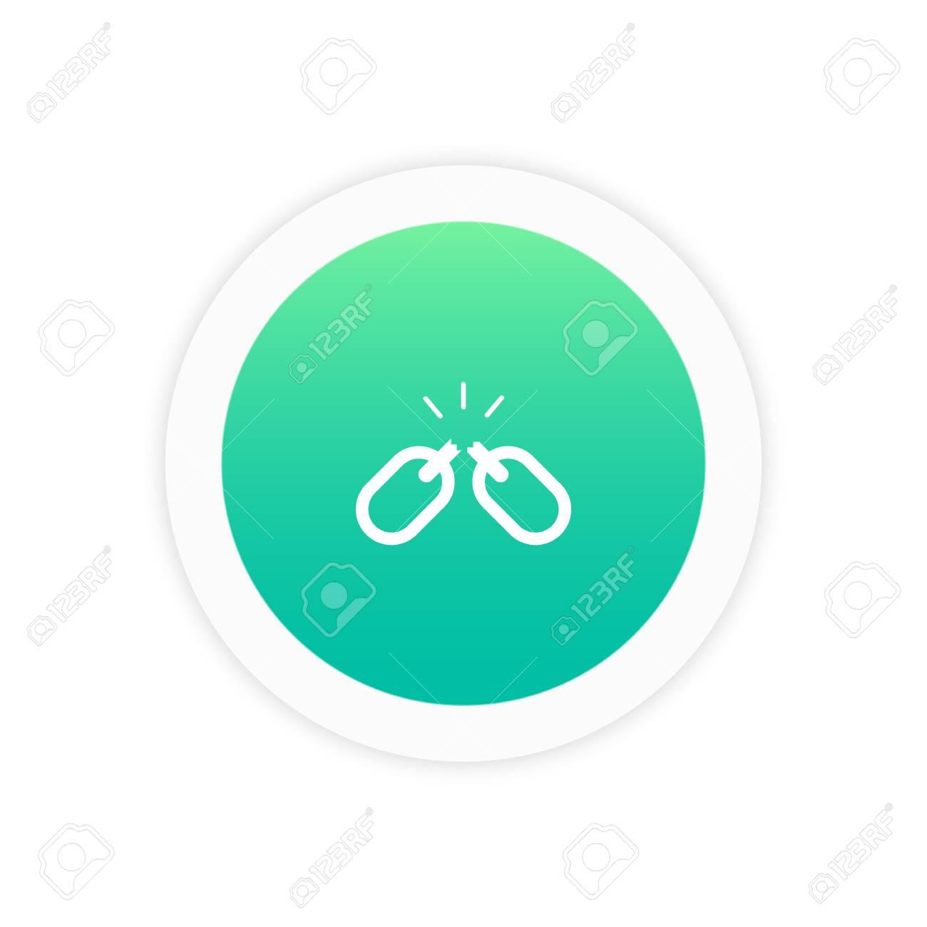 Link Broken Icon Sign Symbol Vector Illustration Icon. Royalty Free ...