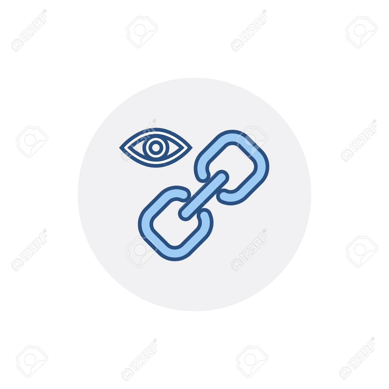 Chain Eye Hyperlink Internet Link Web Web Link Icon Vector Flat