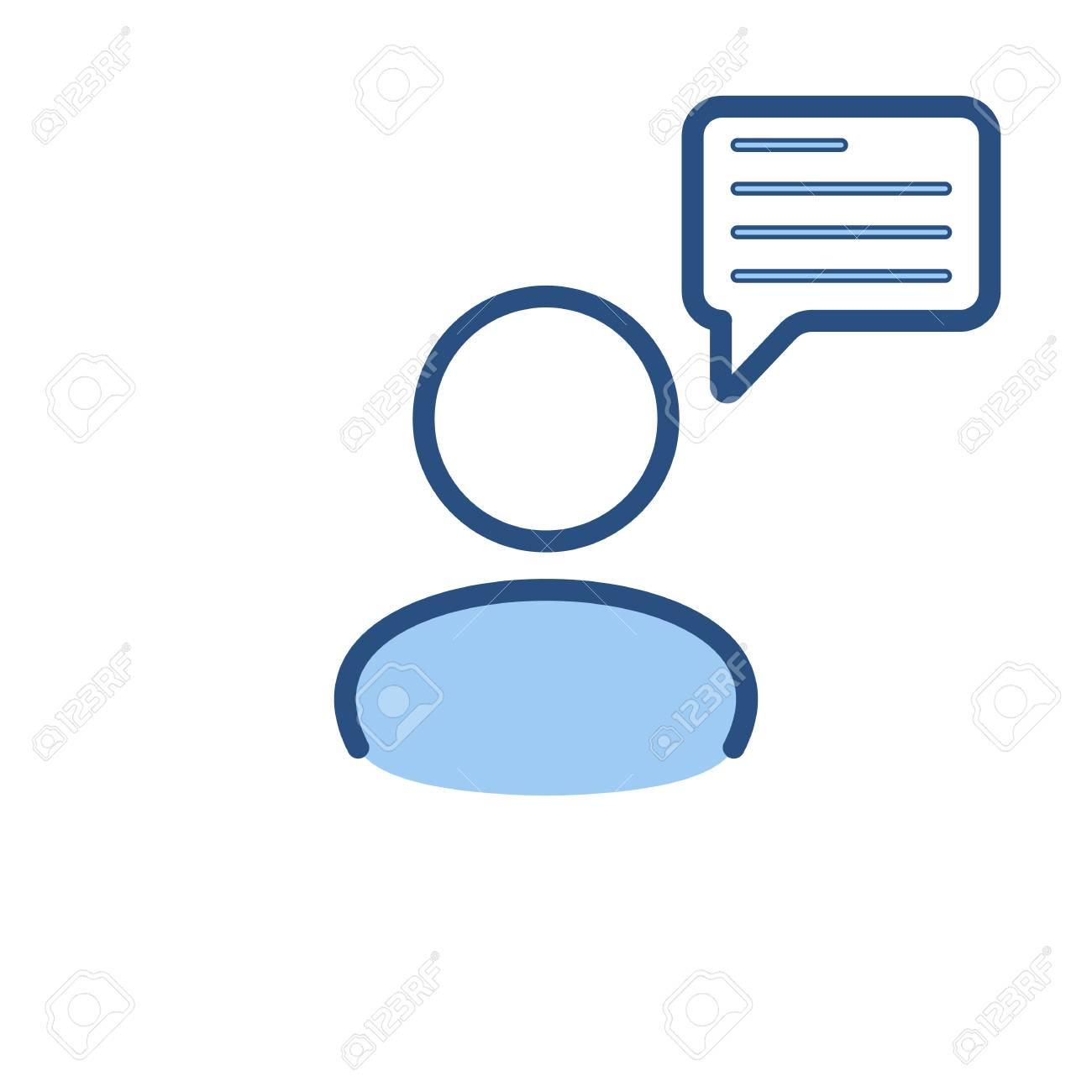 speech bubble user icon communication people talk icon vector rh 123rf com free vector speech bubble icon free vector cartoon speech bubbles