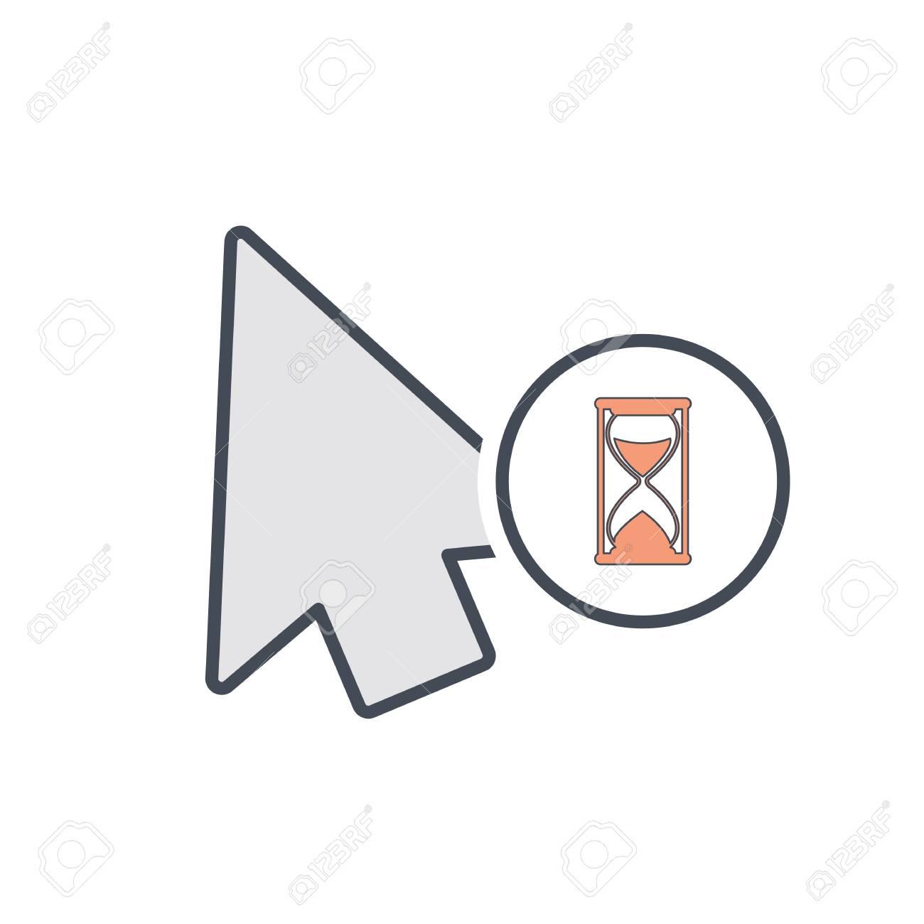 Arrow busy cursor mouse pointer icon Vector illustration Stock Vector -  96103911