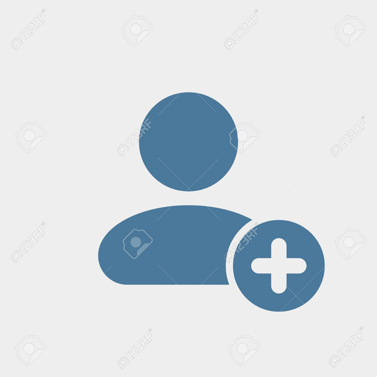 User icon with add sign. User icon and new, plus, positive concept. Vector icon - 97147833