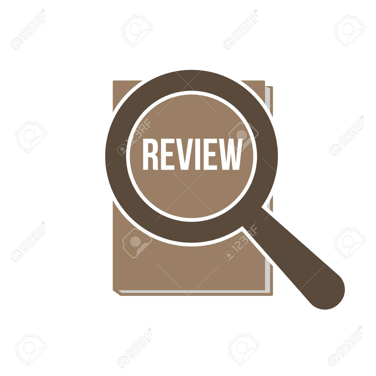 Review Word with Magnifying Glass. Vector illustration. - 98257455