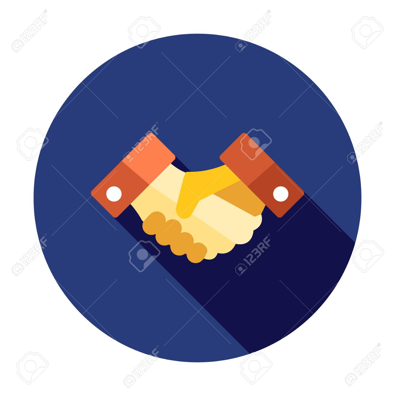 Business Handshake. Business icon. Contract agreement sign. Deal symbol. Partnership shaking hands icon - 127520761