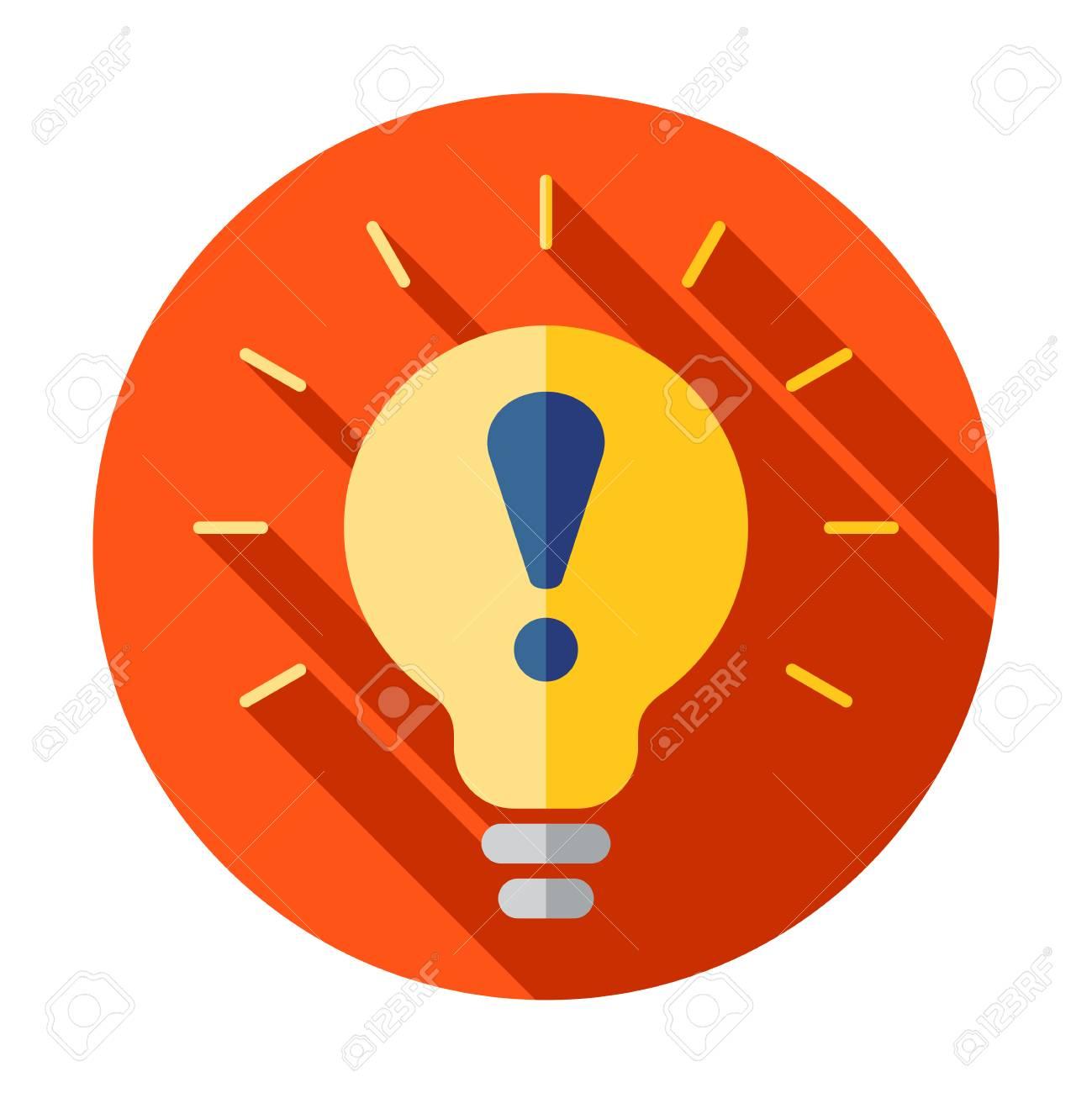Warning light bulb illustration design over a white background - 127520762