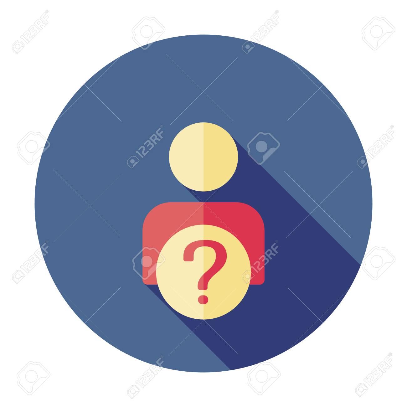 User silhouette with question mark - vector icon. Faq. Question man sign. Person account, profile icon. Account help symbol - 127520771