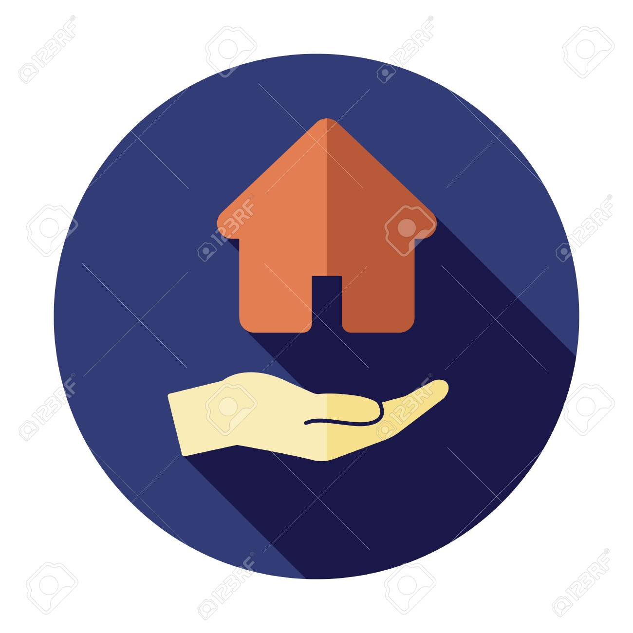Business, buy, finance, hand, home, house icon, home mortgage, loan vector, real estate symbol - 127520772