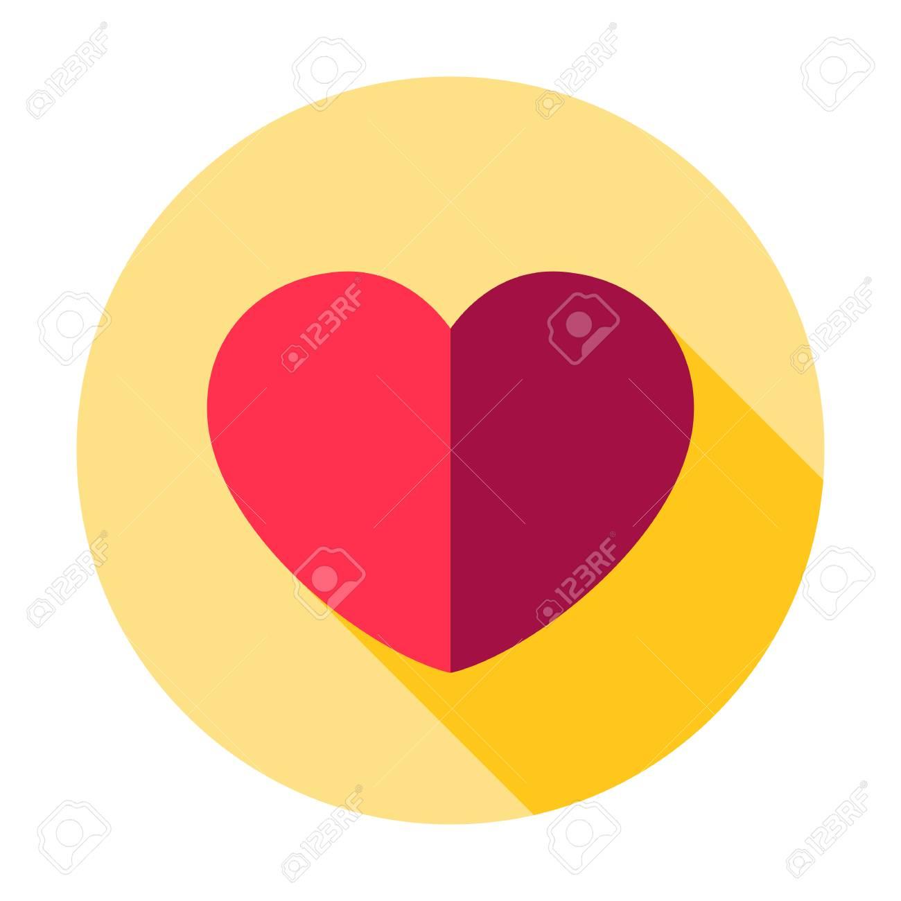 Heart icon vector. Wedding Love graphic symbol. Valentine's day sign, Simple Heart shape emblem isolated design. Health care illustration. Romantic, romance button. Passion symbol. Web icon - 112464006