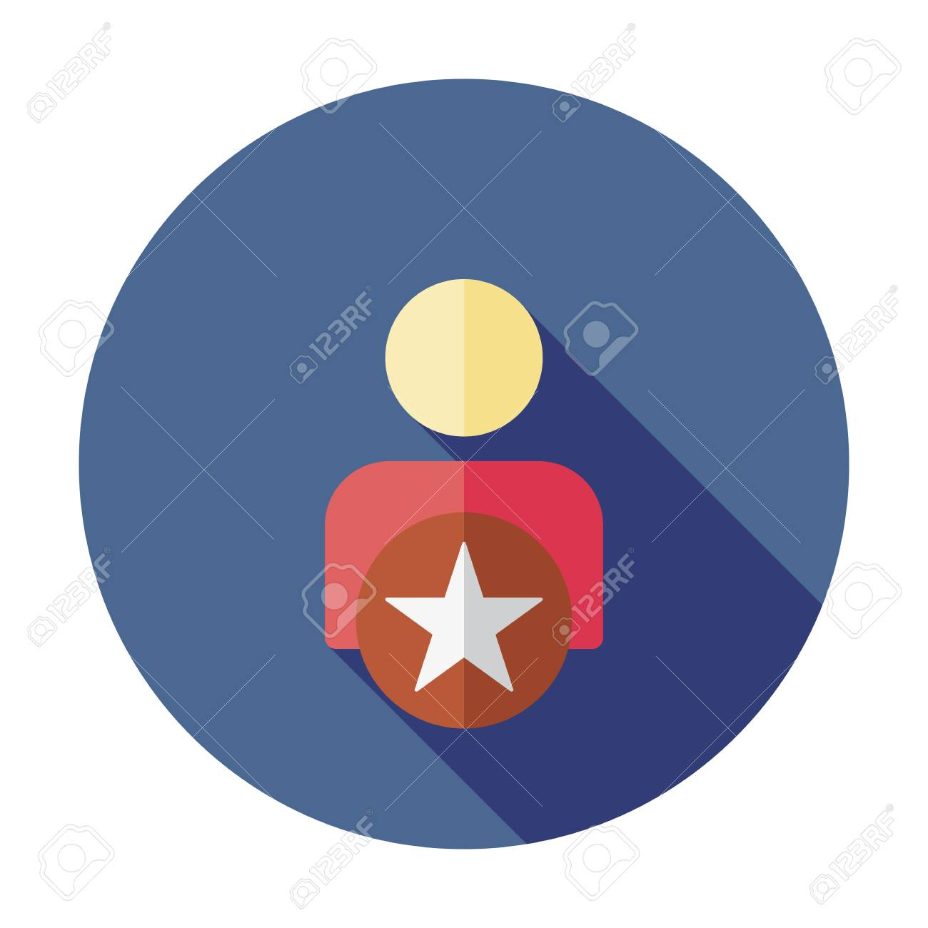 Person icon. Vector Following Account sign. Ideal Man. Vector Following Account Icon. Ideal Man. Avatar sign, Favorite man with star. User icon. Good man symbol. Best quality person icon - 127520775