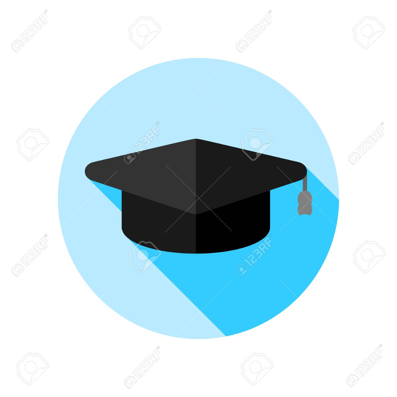 Graduation hat cap art icon for apps and websites - 112464013