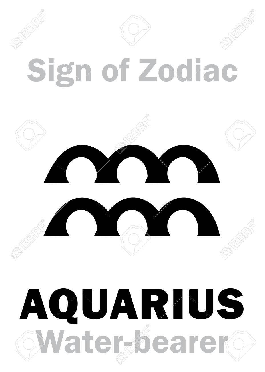 Astrology alphabet sign of zodiac aquarius the water bearer astrology alphabet sign of zodiac aquarius the water bearer hieroglyphics character biocorpaavc Choice Image
