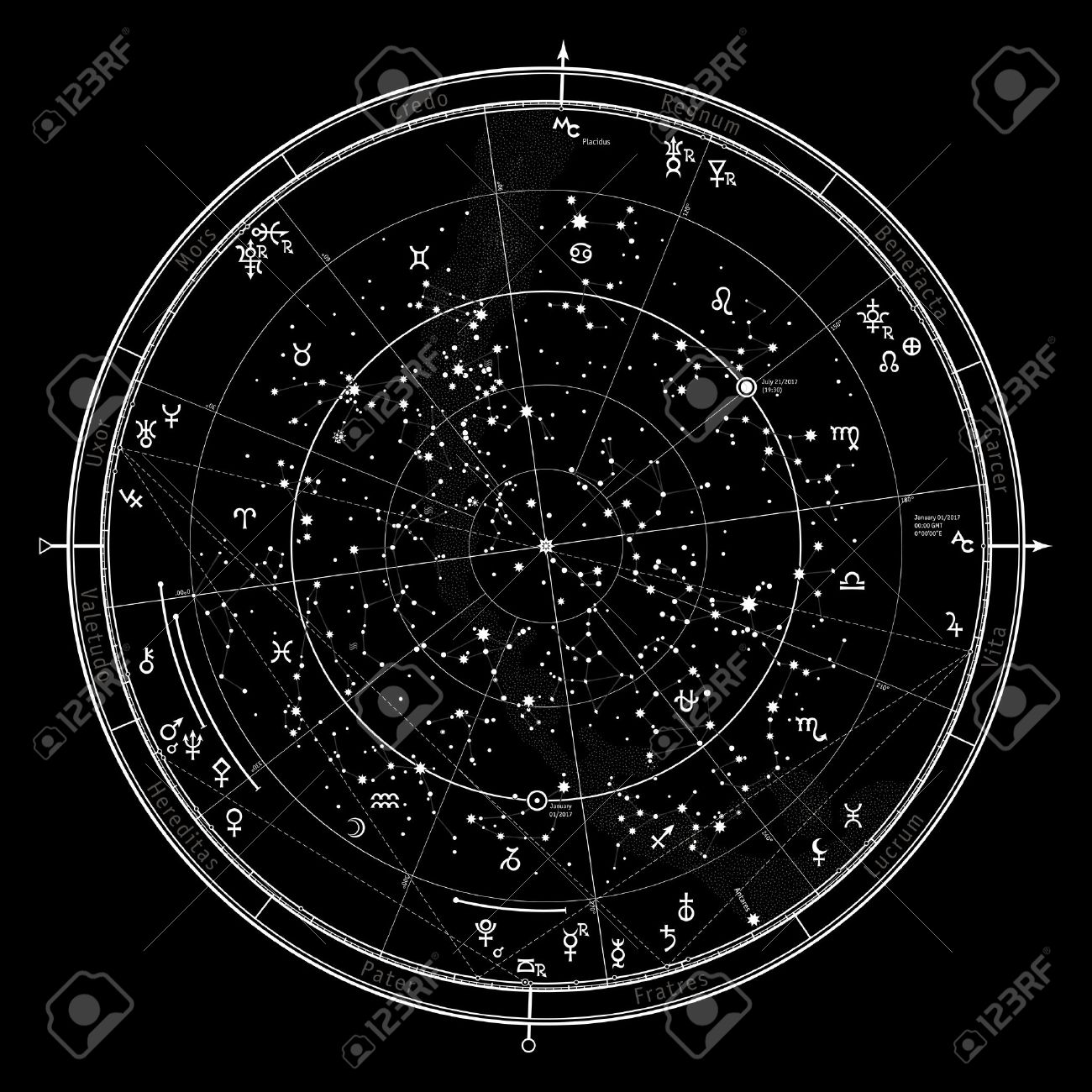 Astrological celestial map of northern hemisphere horoscope astrological celestial map of northern hemisphere horoscope on january 1 2017 00 ccuart Gallery
