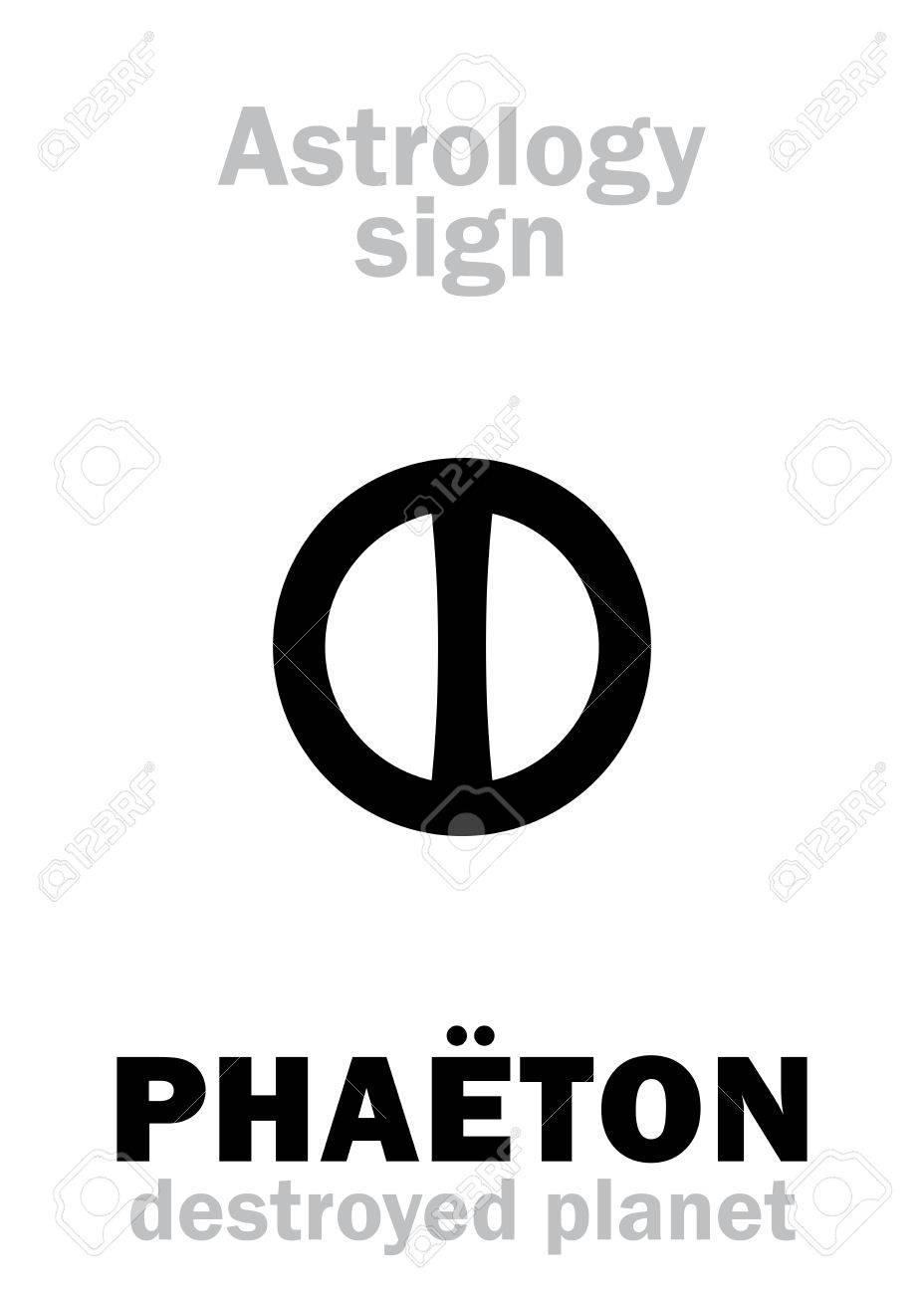 Astrology Alphabet Phaton Juno Hypothetic Destroyed Planet