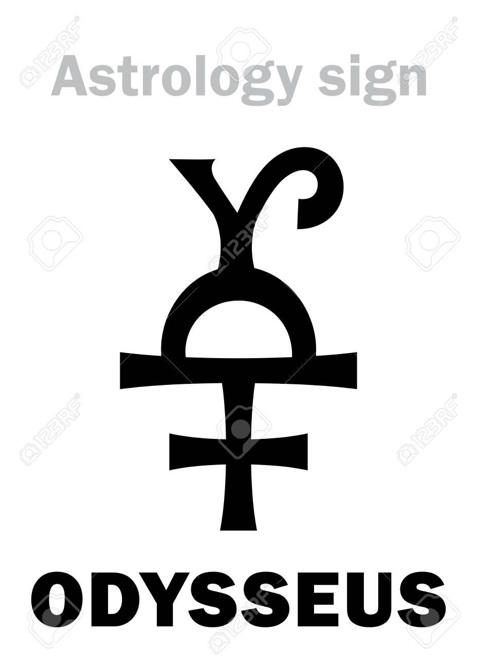 Astrology Alphabet: ODYSSEUS (Ulysses), asteroid #1143  Hieroglyphics