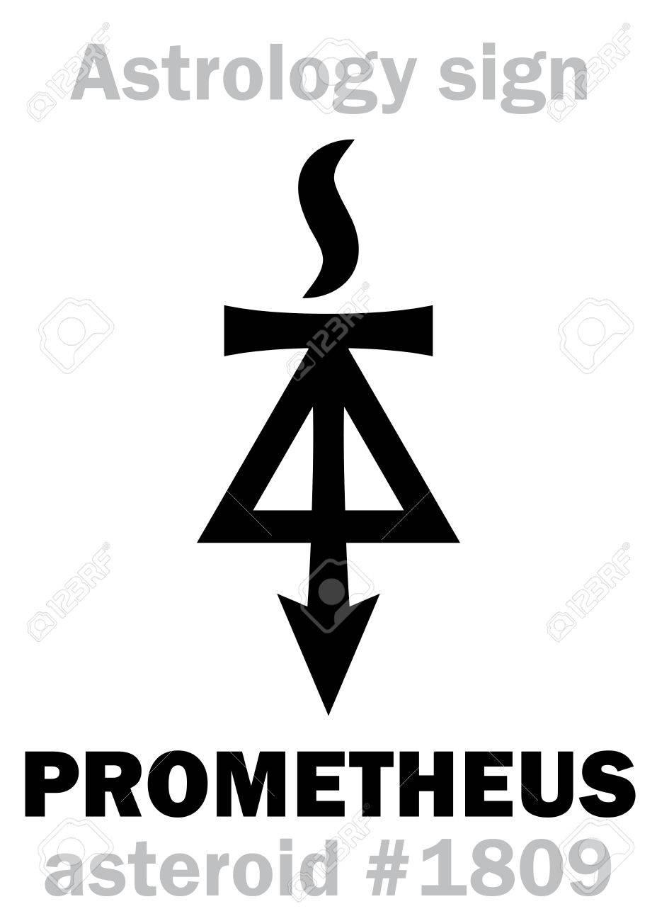 Astrology Alphabet: PROMETHEUS, asteroid #1809  Hieroglyphics