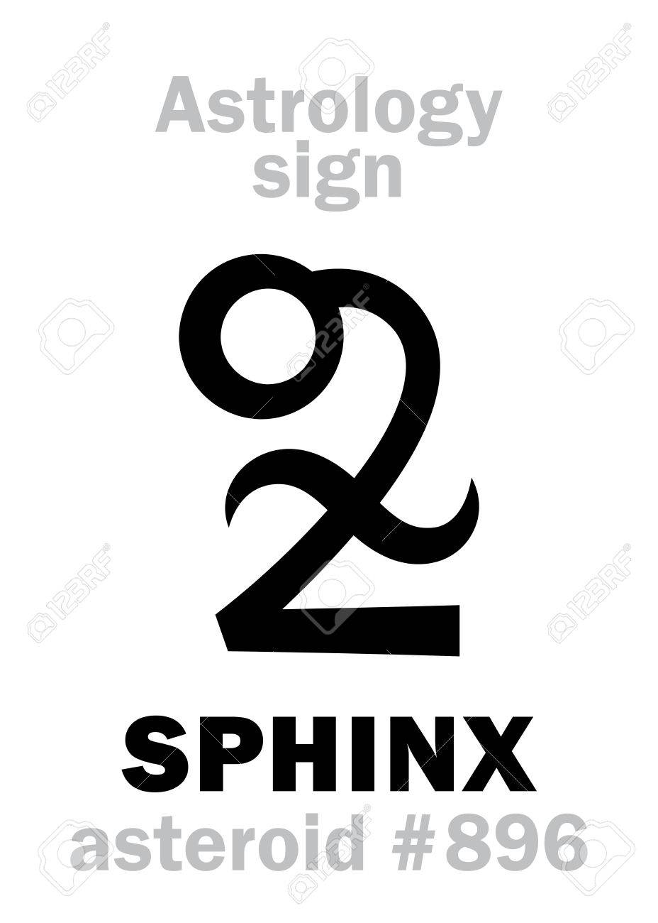 Astrology Alphabet: SPHINX, asteroid #896  Hieroglyphics character