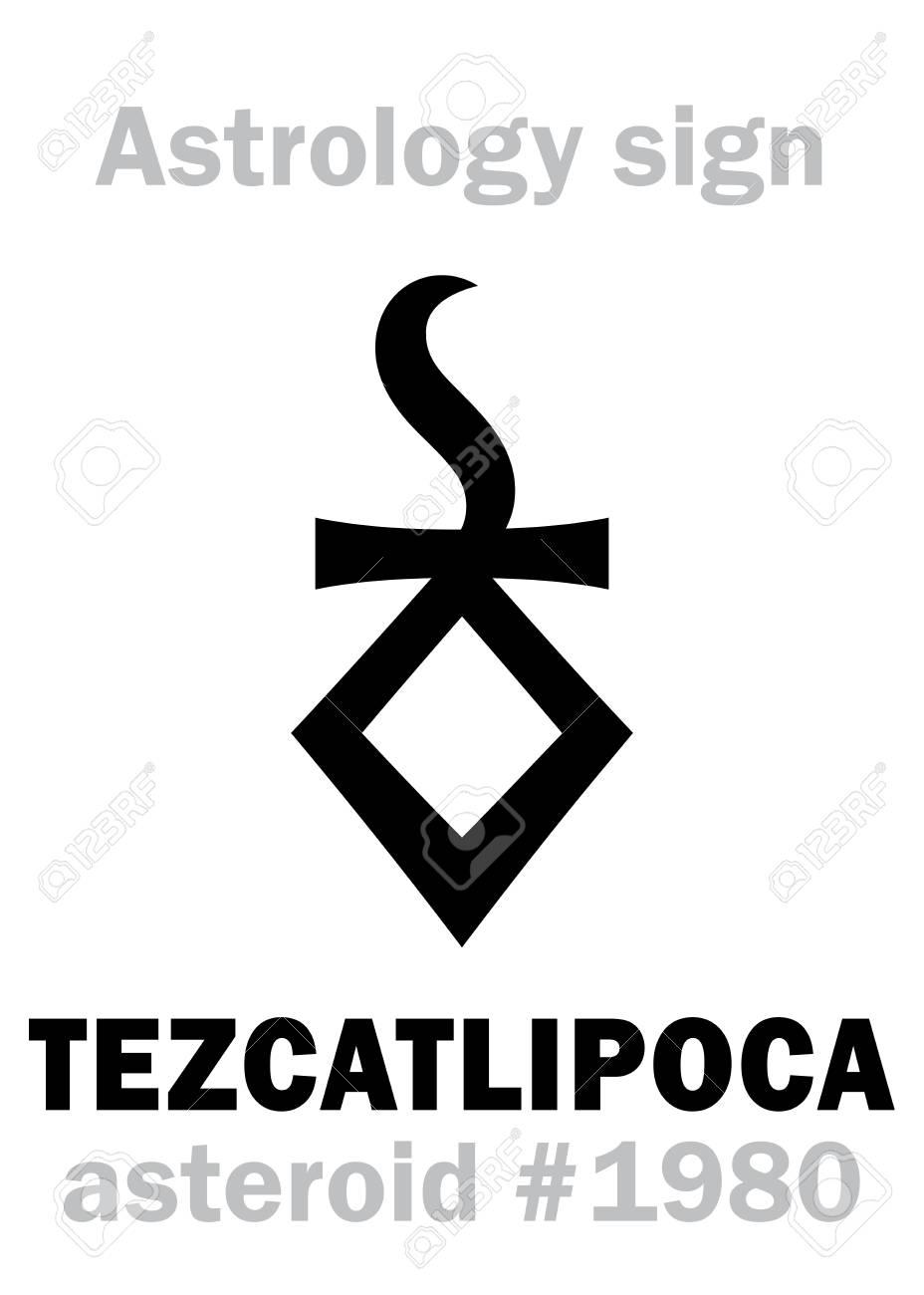 Astrology Alphabet: TEZCATLIPOCA (Smoking Mirror), asteroid #1980