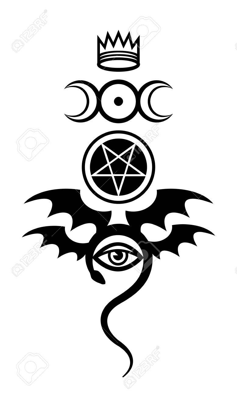 Evil eye the greater malefic emblem of witchcraft and sign diabolic symbol evil eye the greater malefic emblem of witchcraft and sign of necromancy biocorpaavc