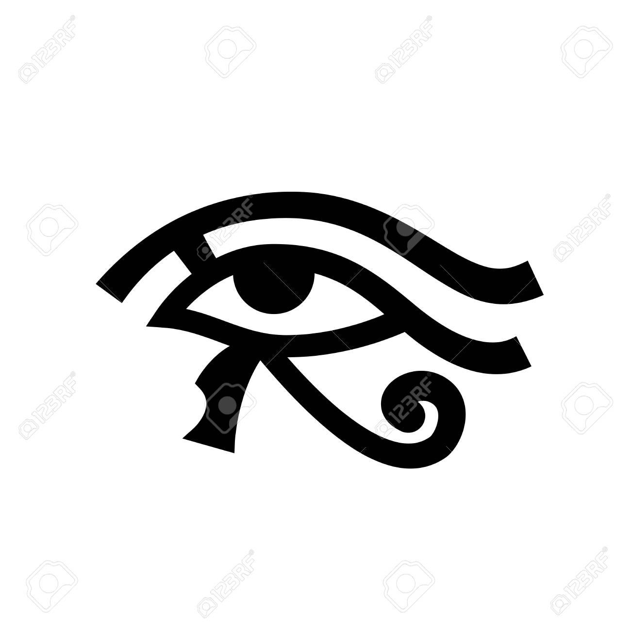Oeil D Horus Oeil De Ra Signe Mystique Hieroglyphique Egyptien