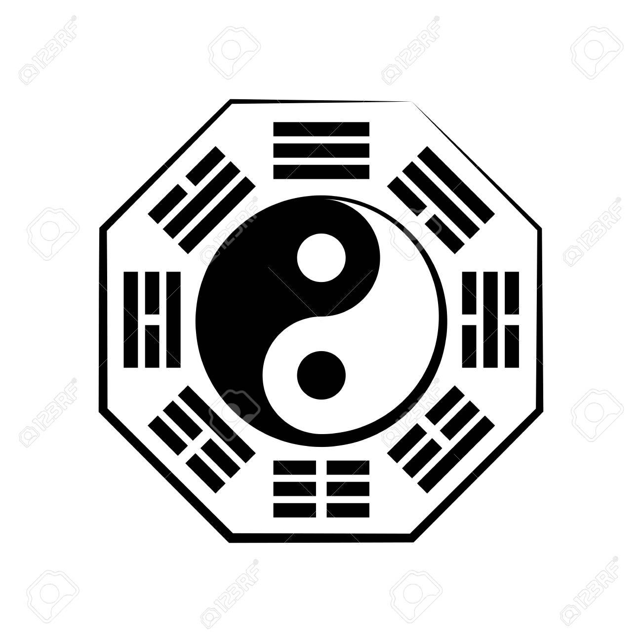 Yin Yang And B Gu 8 Trigrams The Chinese Cosmic Symbol Of