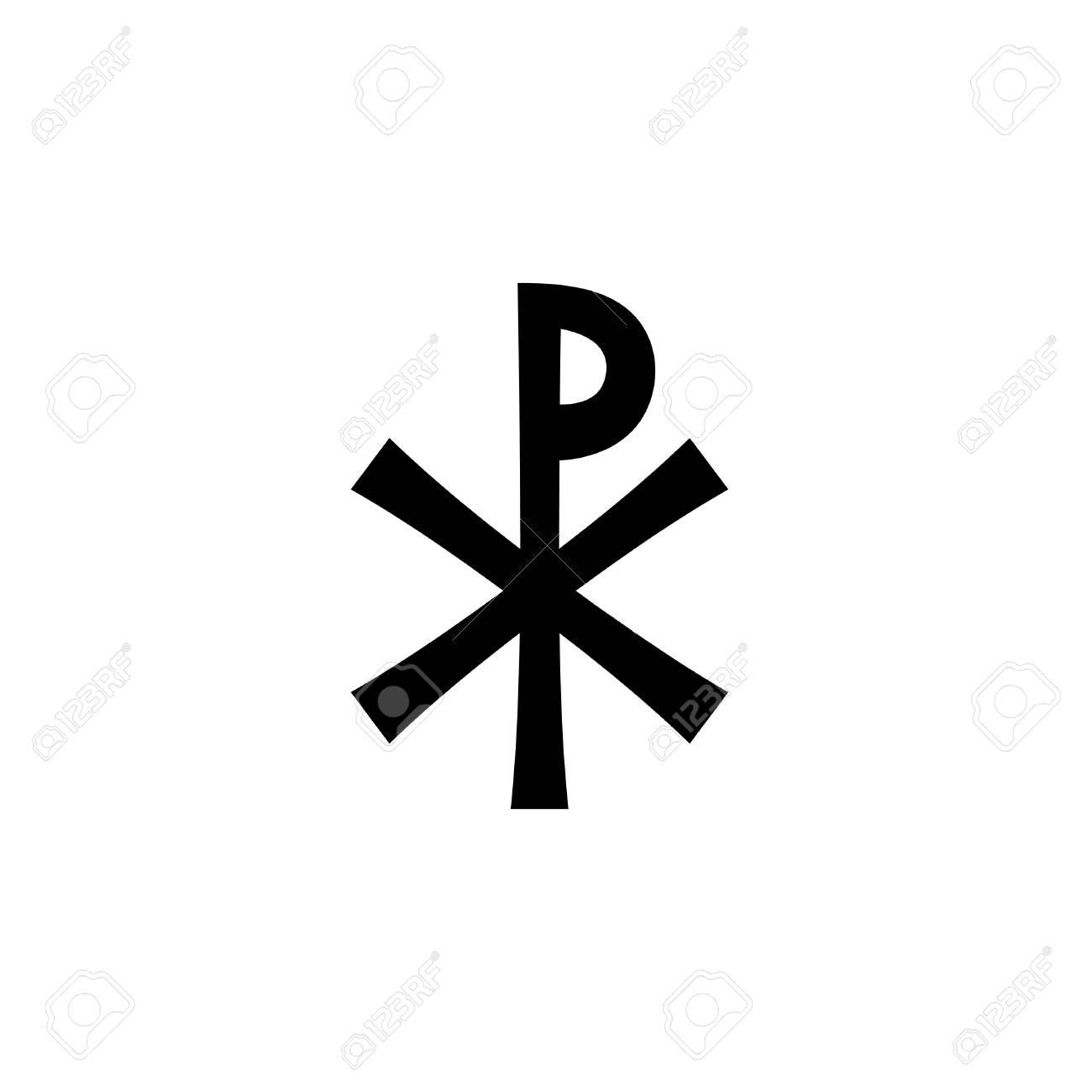 Christogram Christian Monogram Of Jesus Christ The Savior The