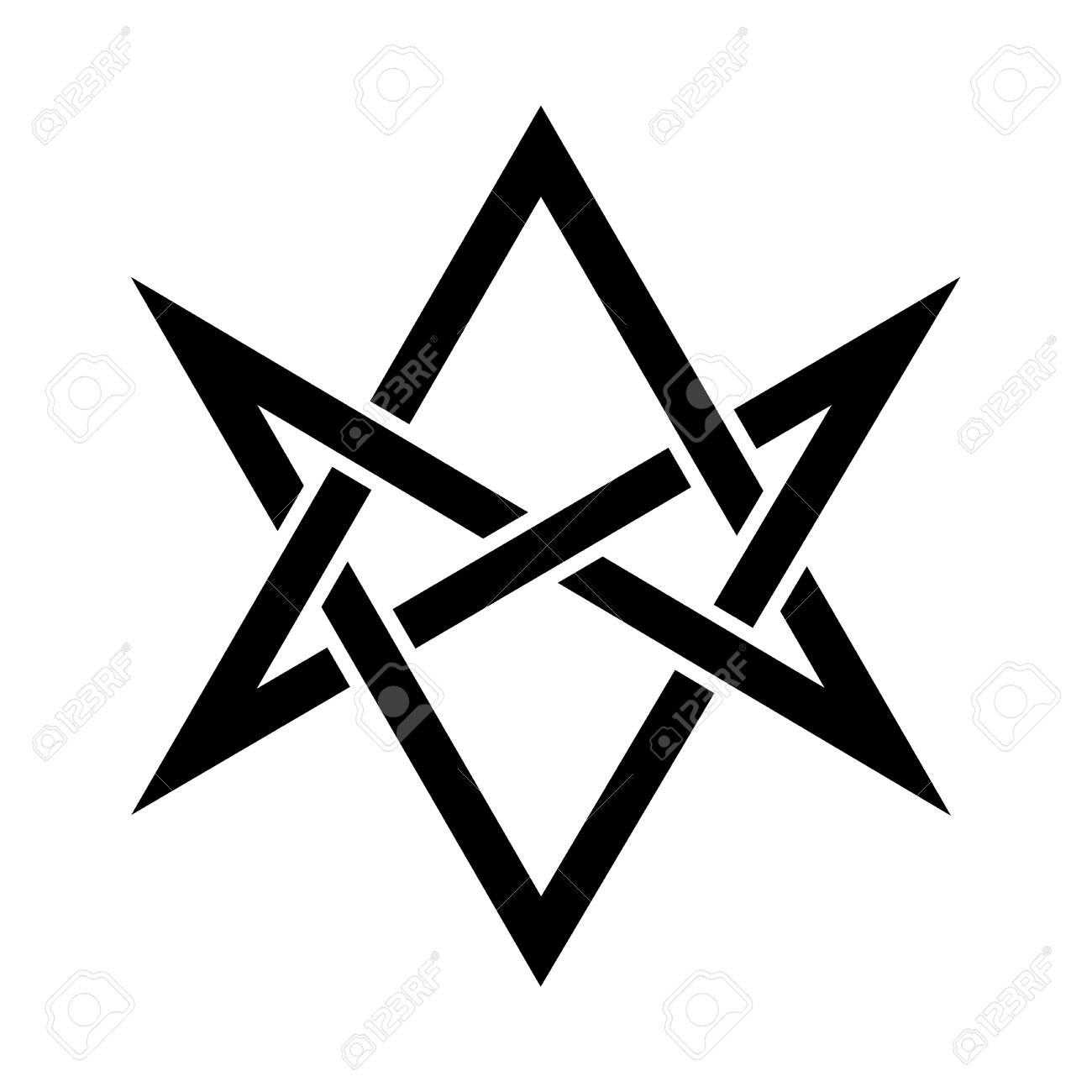 Hexagrammum Mysticum Unicursal Hexagram The Horns Of