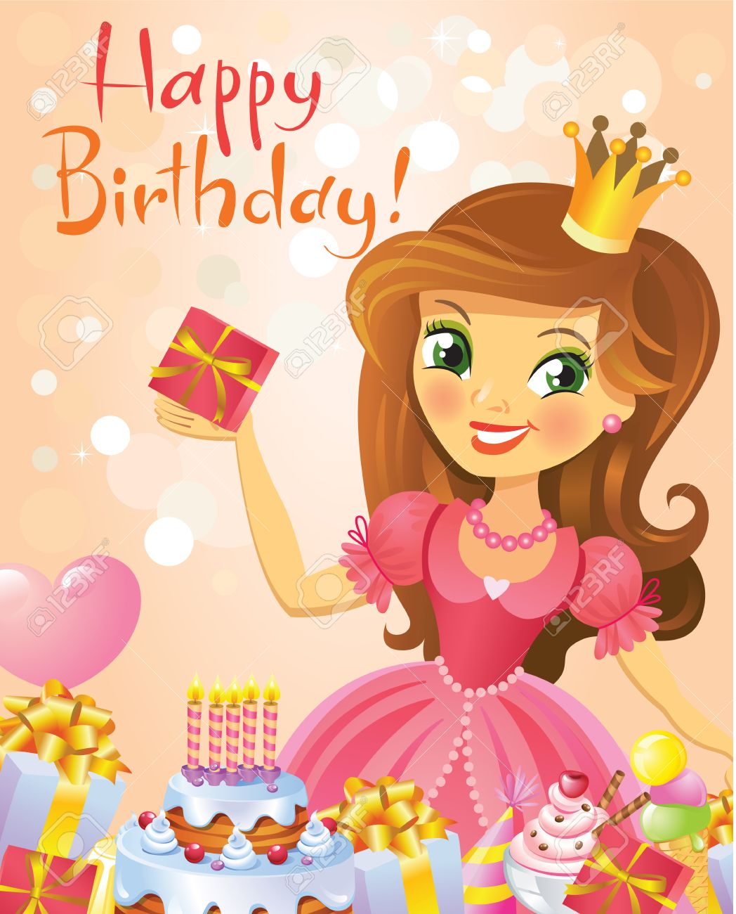 Поздравления с днем рождения девочке - картинки (30 открыток) 43