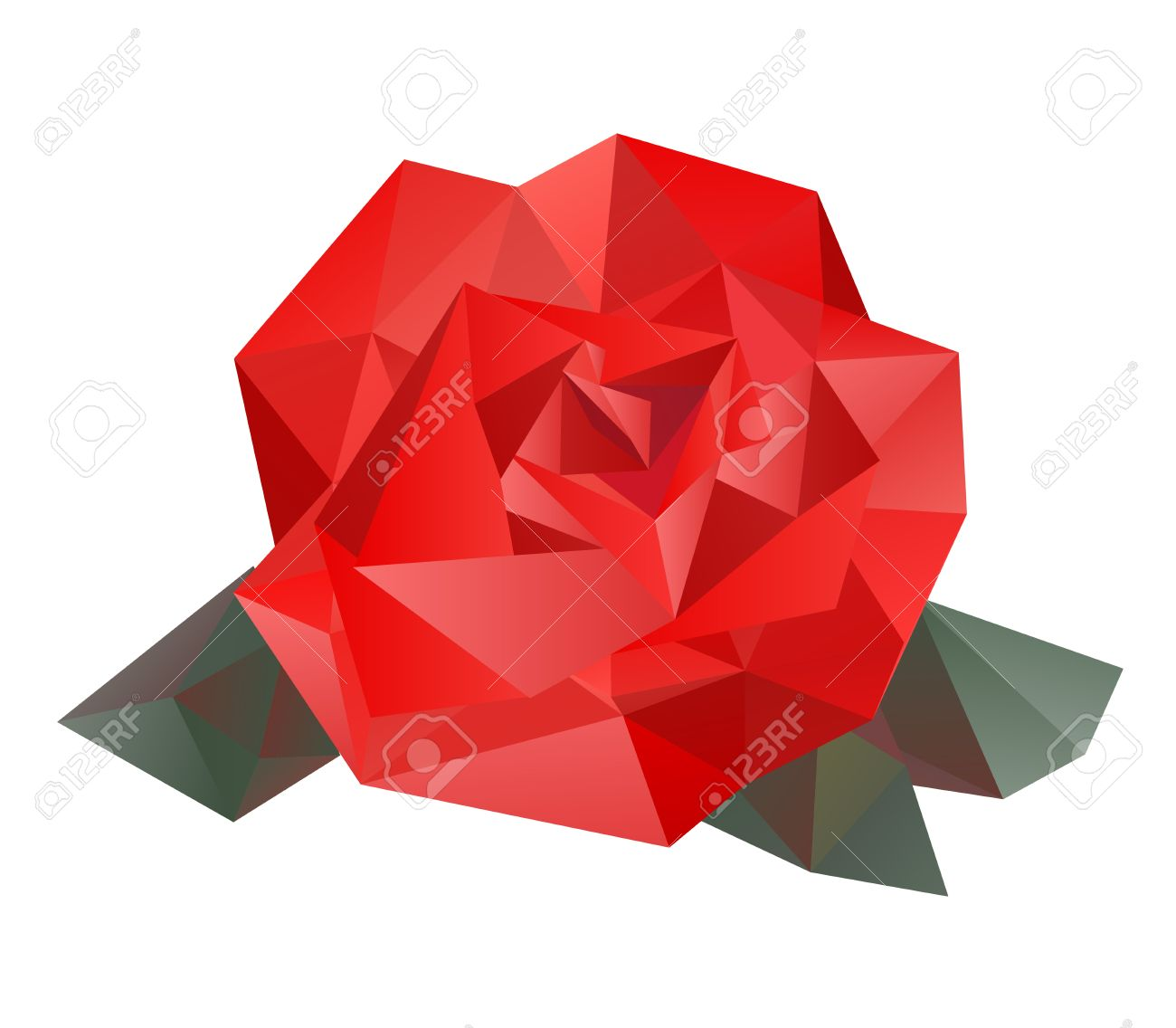 Geometric vector rose royalty free cliparts vectors and stock geometric vector rose stock vector 41138674 voltagebd Gallery
