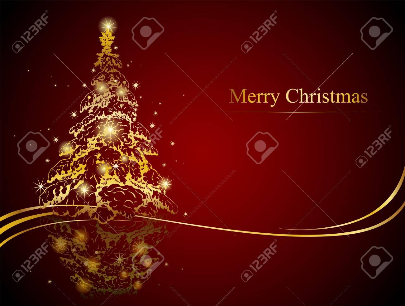 Creare Foto Di Natale.Moderno Albero Di Natale D Oro Possibilita Di Creare Biglietti Di Auguri E Ornamenti