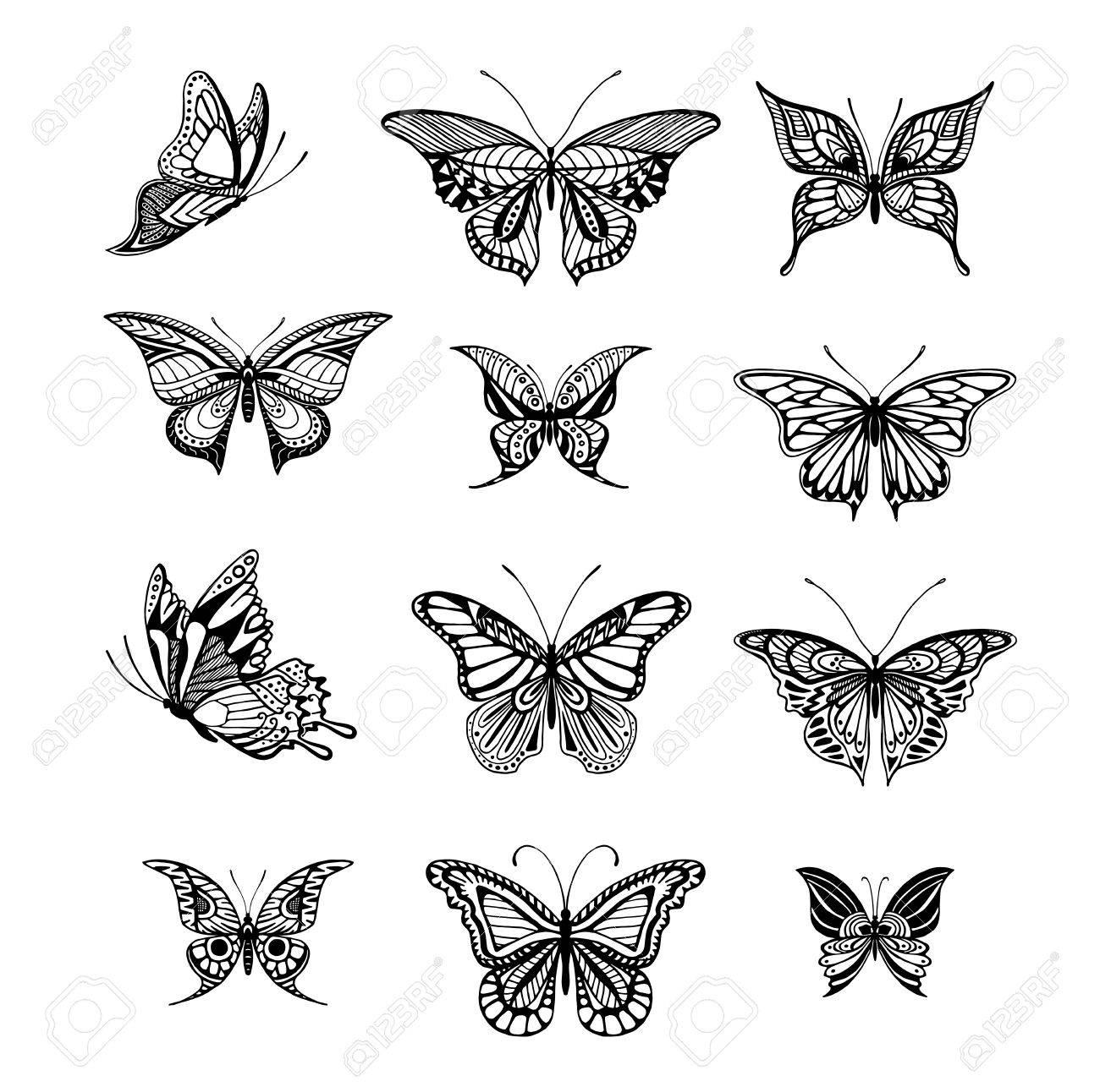 タトゥー スタイル蝶のイラストのイラスト素材ベクタ Image 51563825