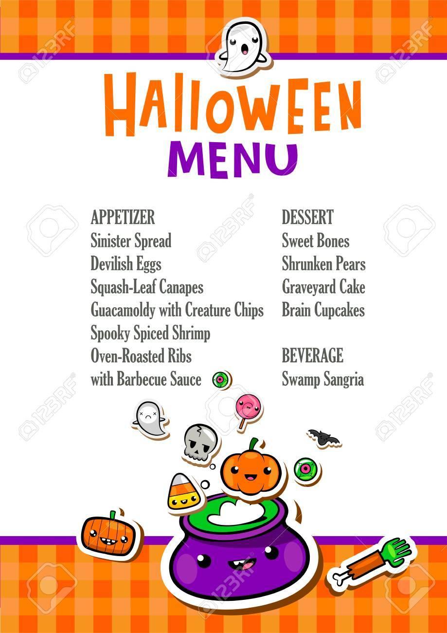 Atemberaubend Halloween Menüvorlage Ideen - Beispielzusammenfassung ...