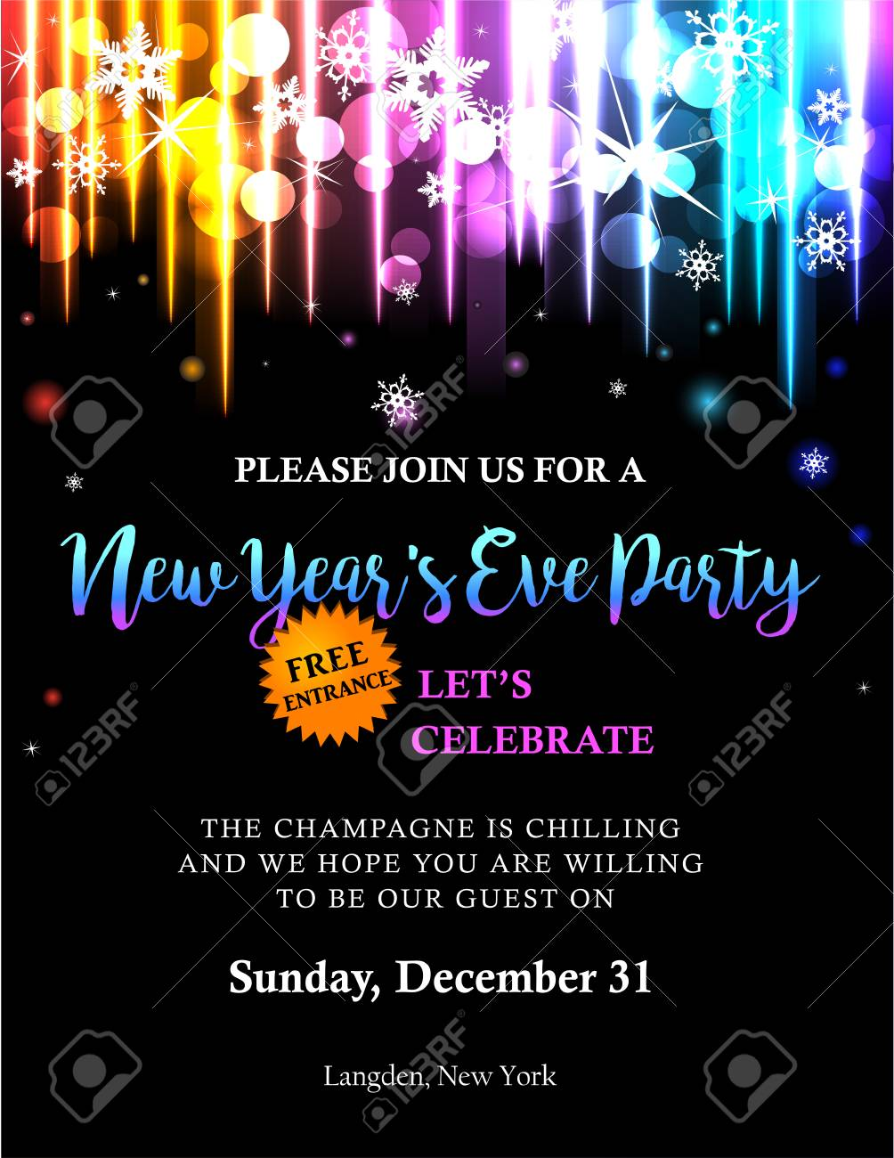 new year party invitation stock vector 88833545