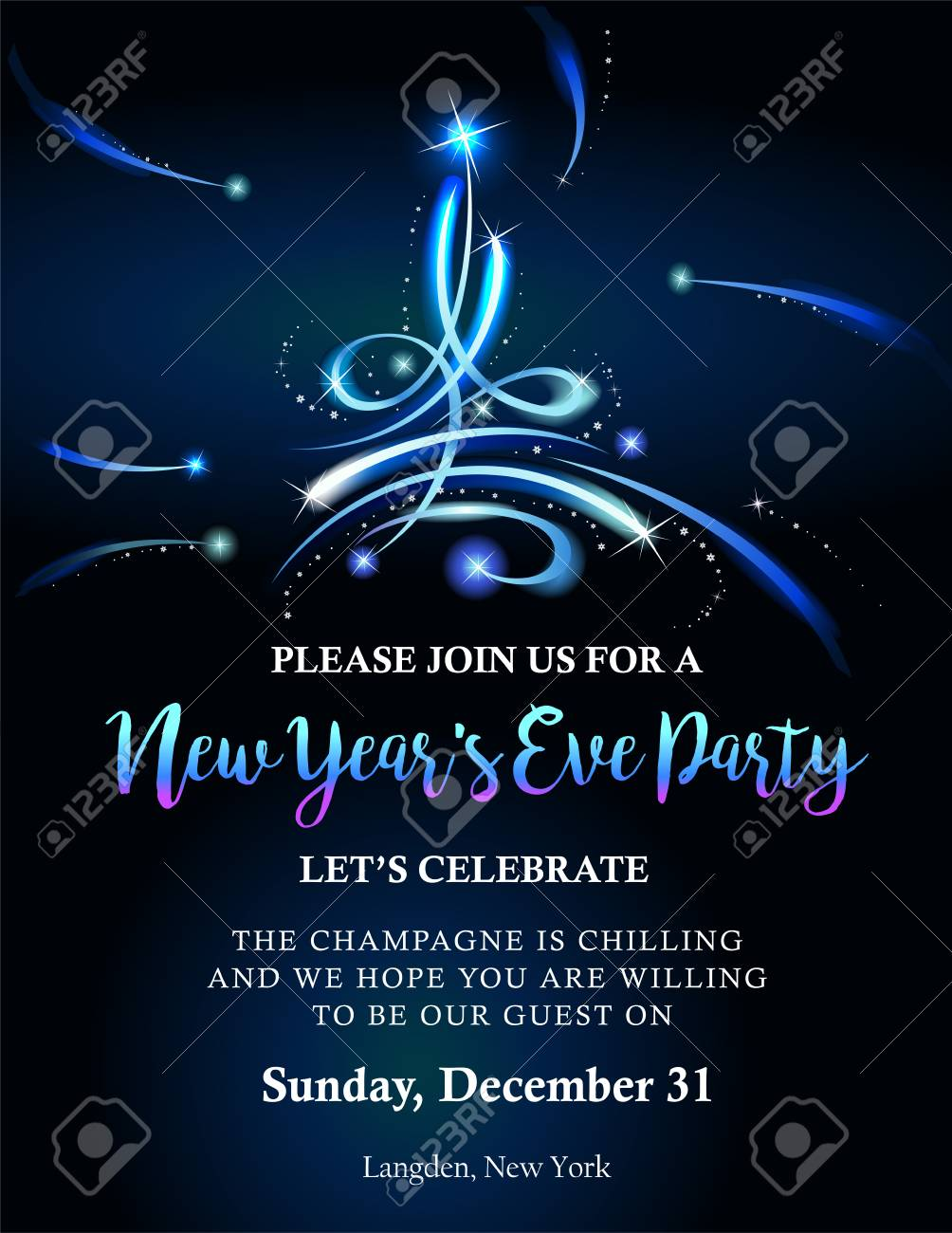 new year party invitation stock vector 88833548