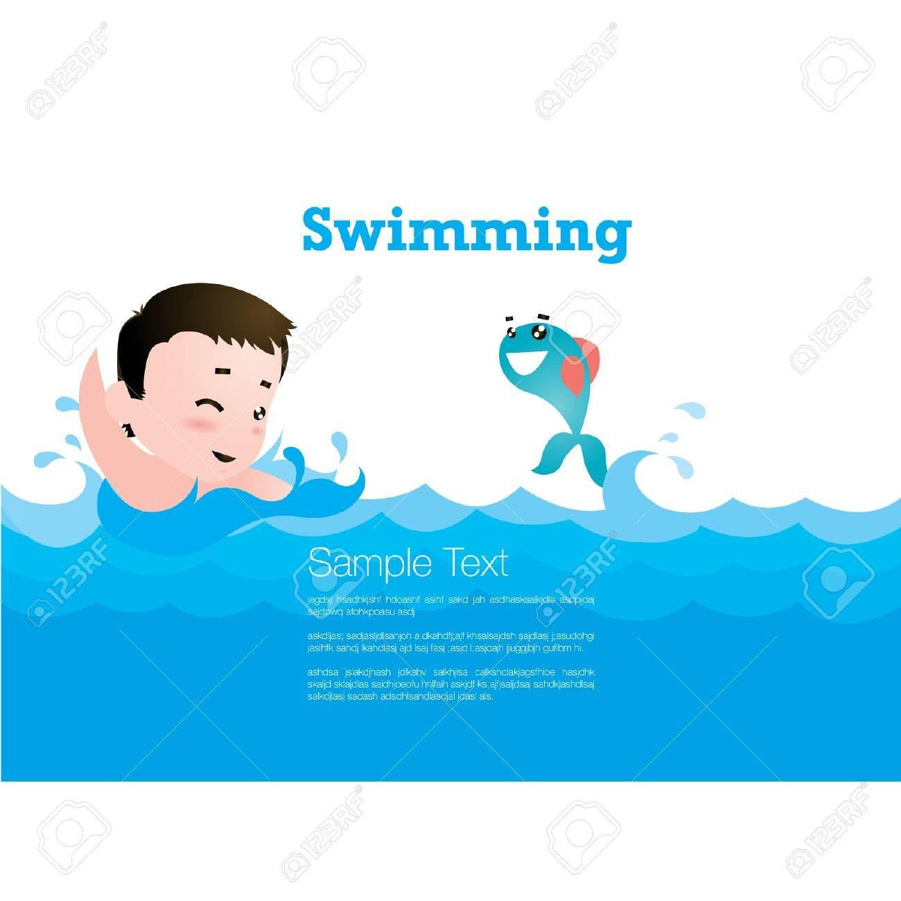 pool splash vector. Kid Swimming Stock Vector 14798997 Pool Splash
